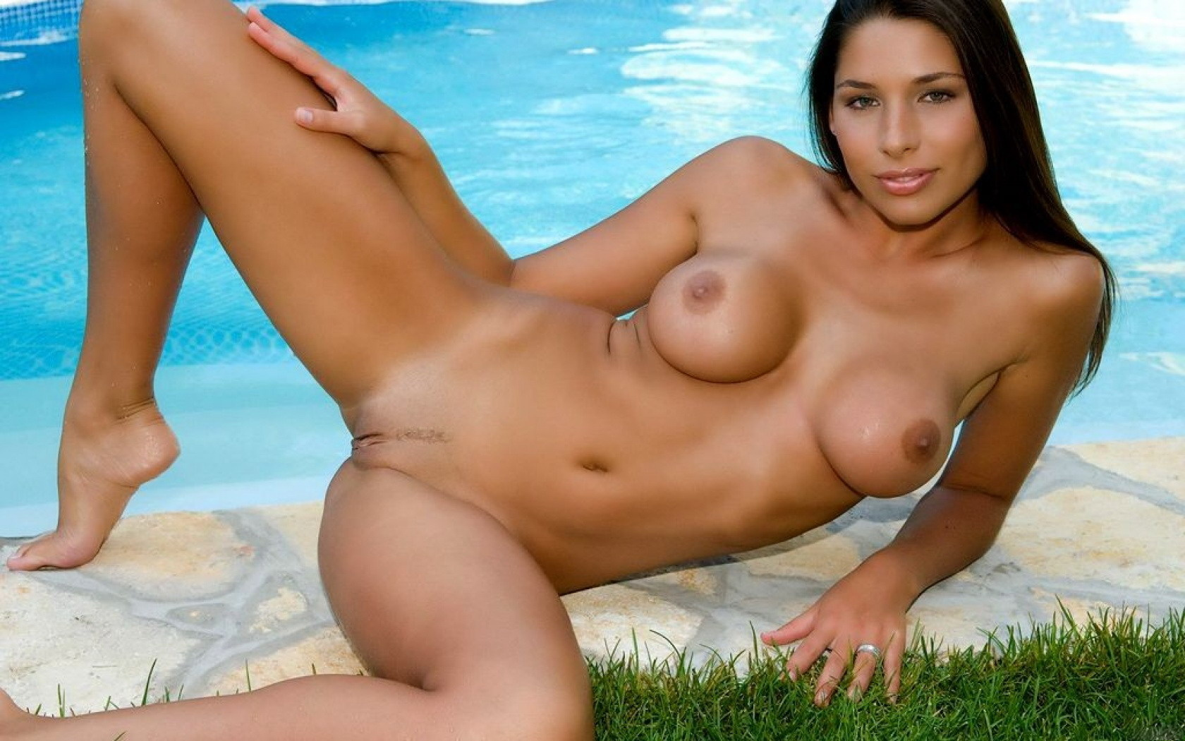 Wallpaper Nude, Titts, Pussy, Pool, Tits, Brunette, Zafira, Swimming Pool, Naked, Legs, Wet, Sun, Tan, Tanned, Vagina, Tan Lines, Landing Strip -6460