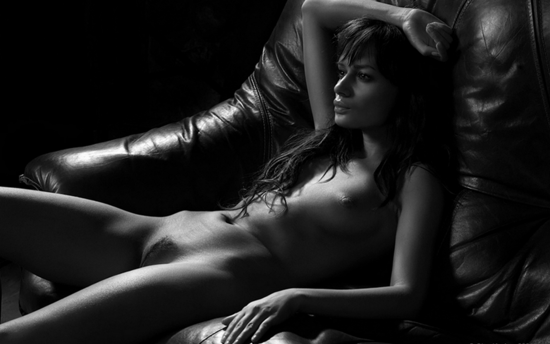 Vintage nude photo print sexy black and white photography