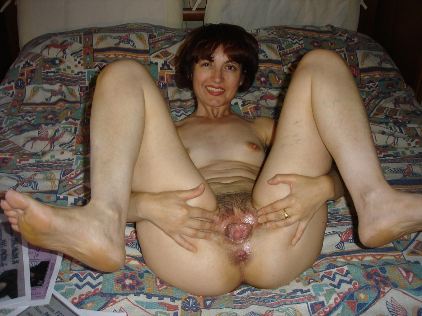 Old mature saggy tits