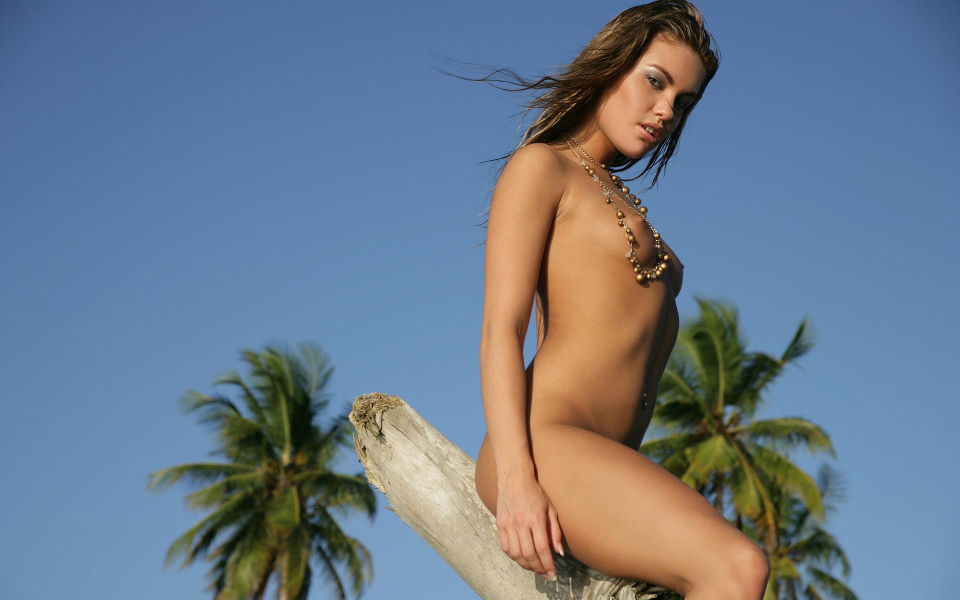 Veronika Fasterova Beach Nude Bikini