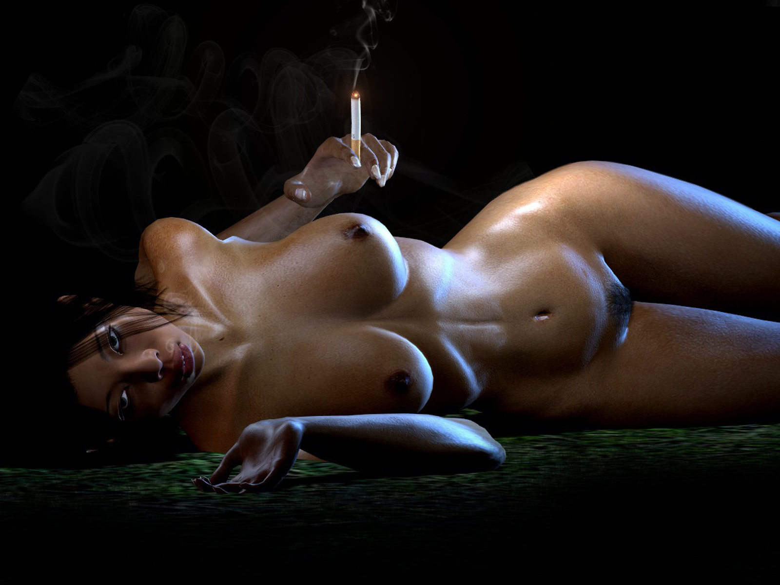 Wallpaper Smoking, Sexy, Naked Desktop Wallpaper - Fantasy -6410