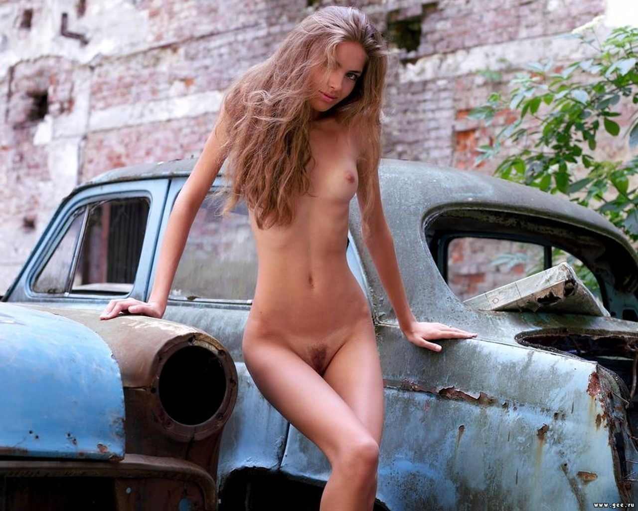 Wallpaper Blonde, Car, Pussy, Naked, Sexy, Alya, Alena -8125