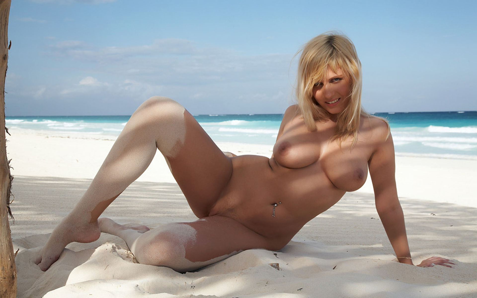 Wallpaper Blond, Naked, Beach, Boobs Desktop Wallpaper - Girls  Beaches - Id 26371 - Ftopxcom-4141