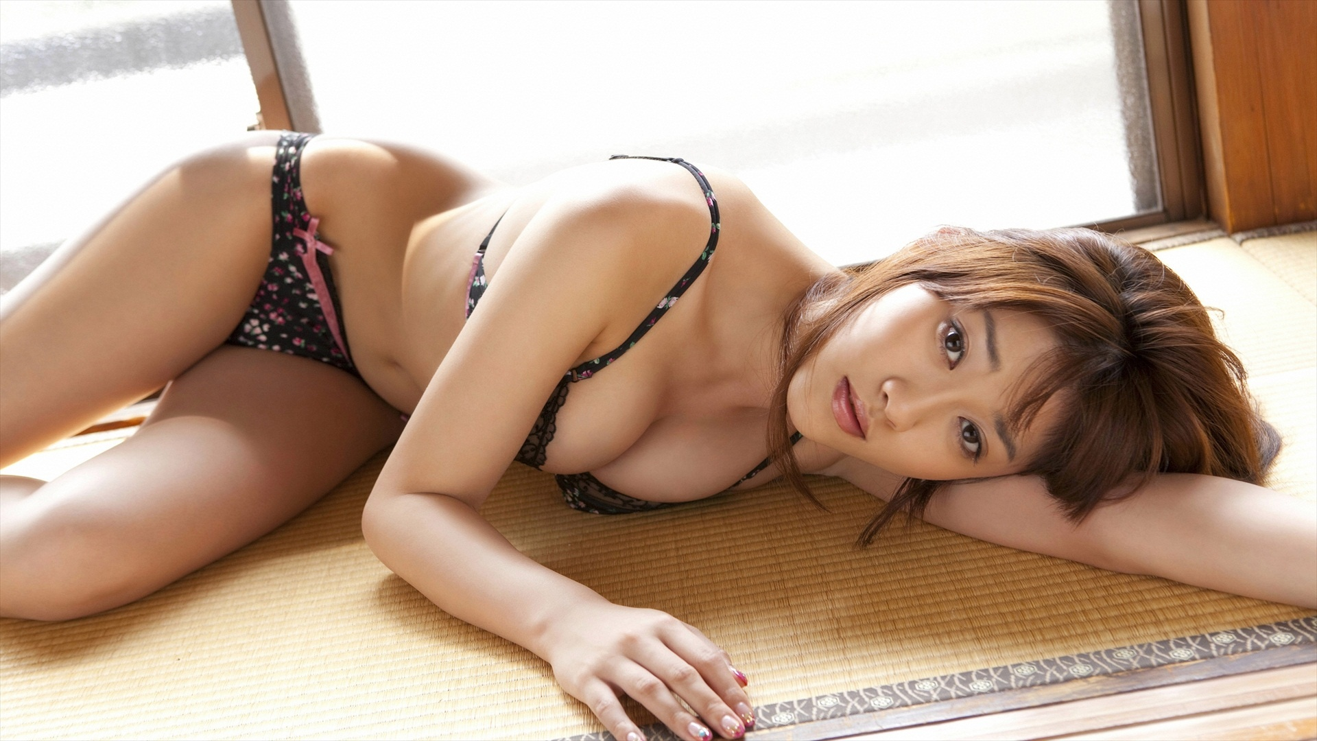 Wallpaper Mikie Hara, Asian, Hot, Sexy, Busty, Lingerie -4440