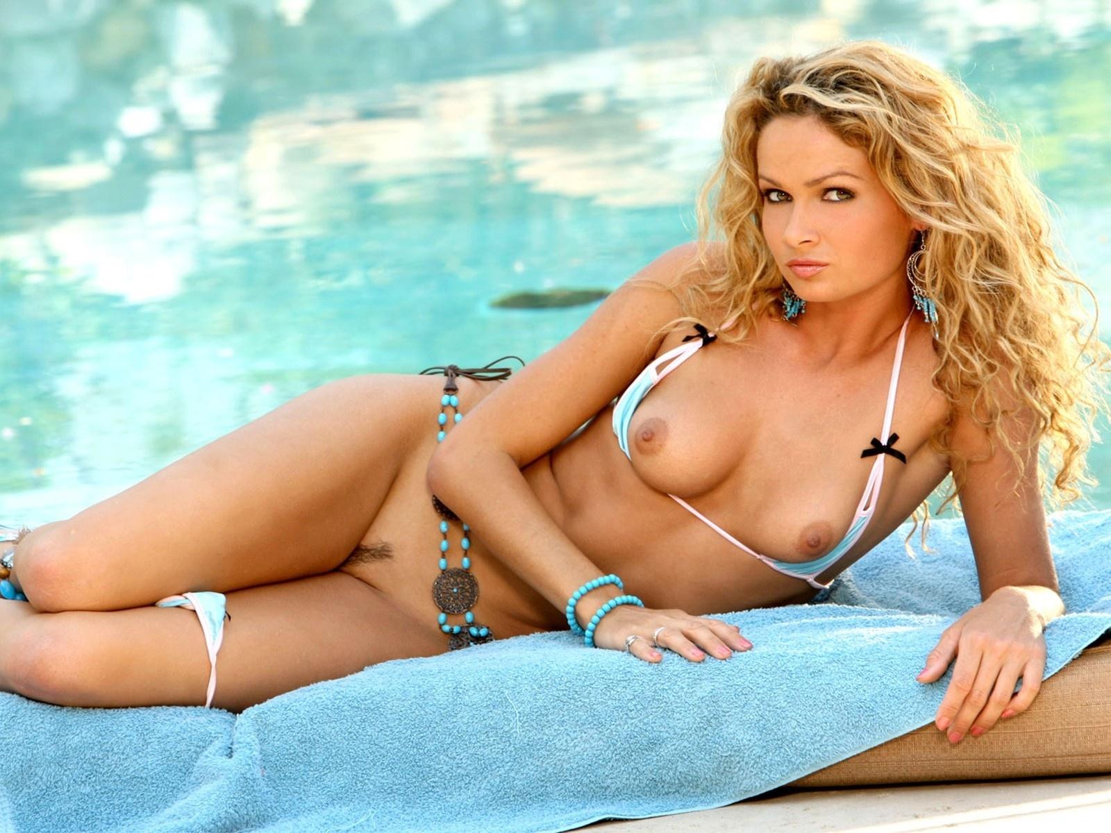 ... .ru » XXX walls » blonde, nude, bikini, pussy, boobs, hot wallpaper