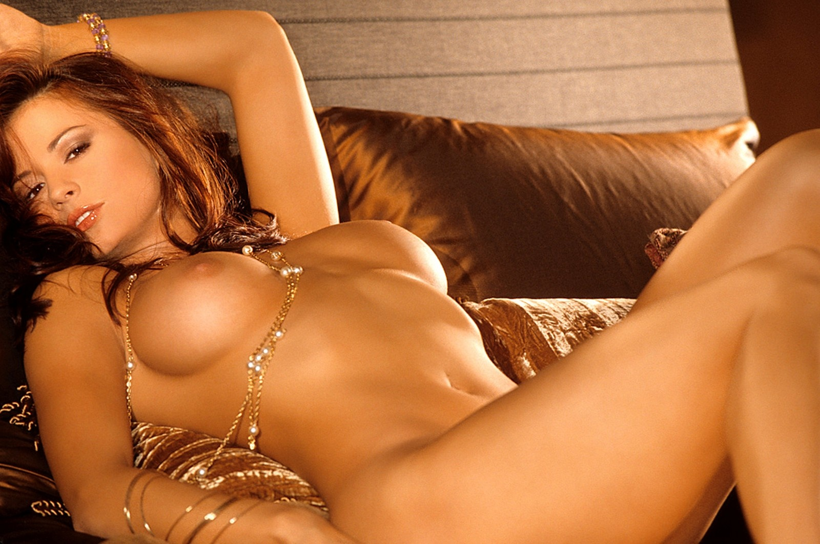 Wallpaper Candice Michelle, Brunette, Boobs, Nude, Naked -6967