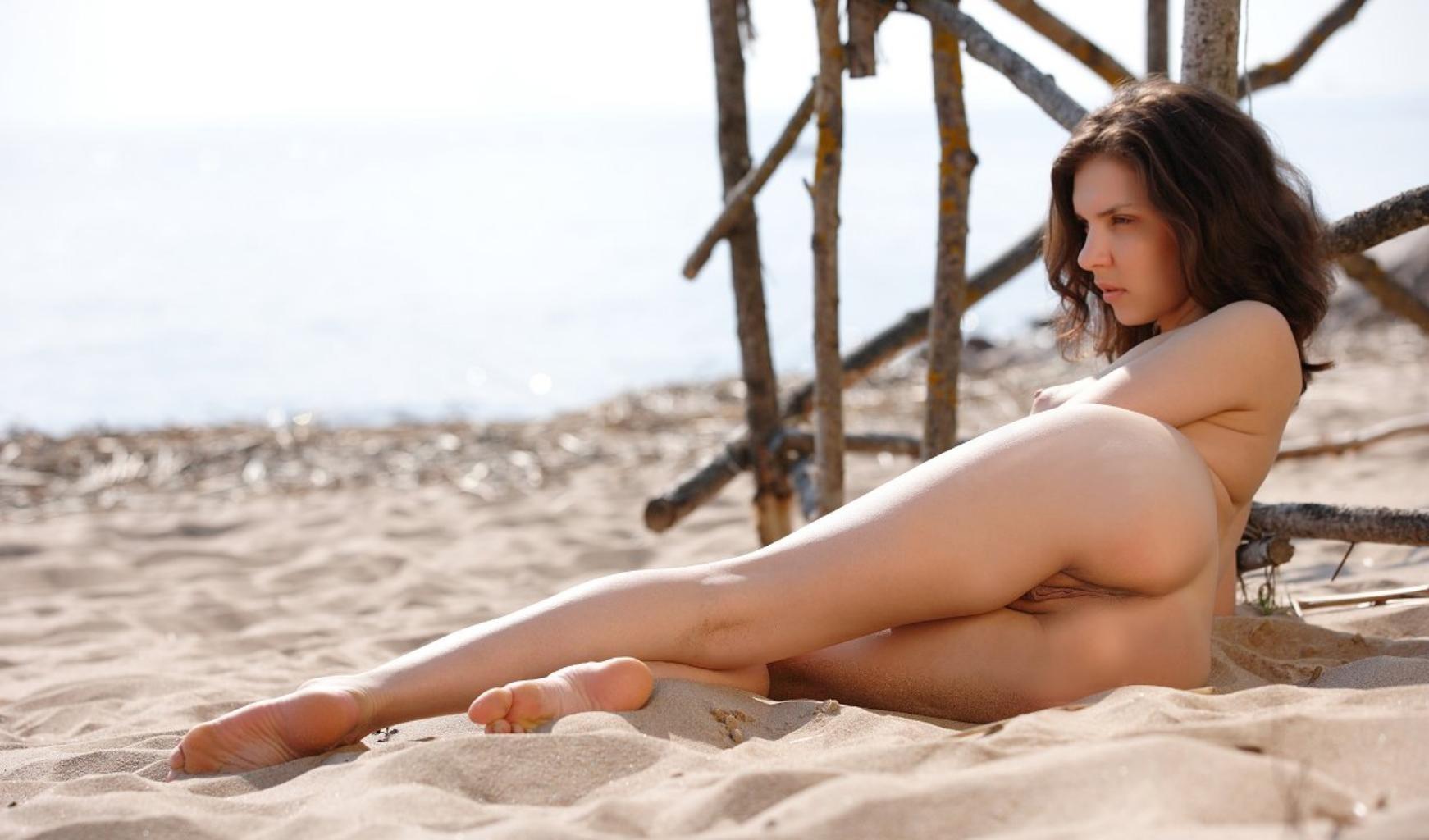 nude Kelly monaco beach