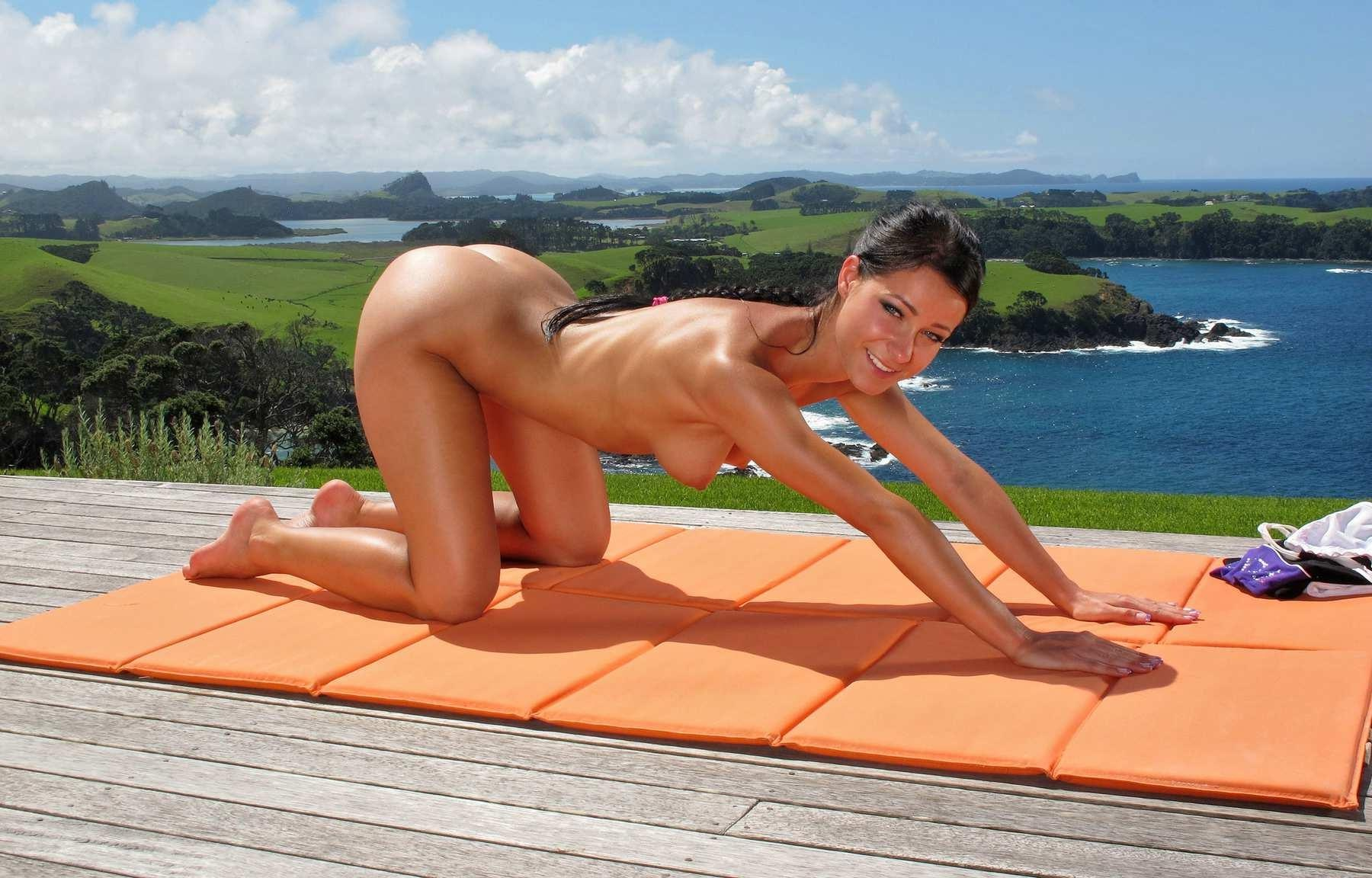 Naked yoga routine-2177