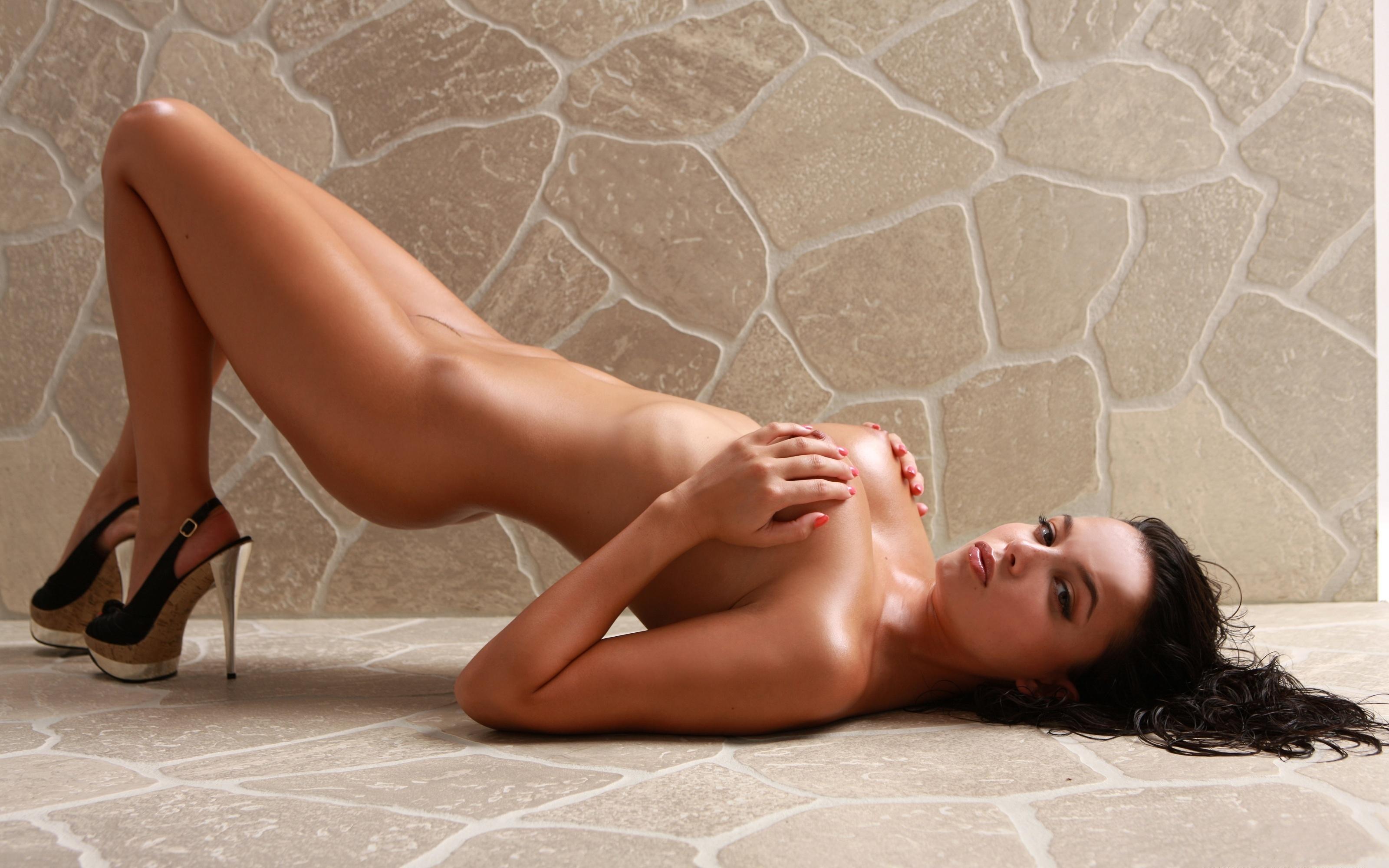 Wallpaper Sasha Cane, Sexy, Hot, Naked, Navel, Heels -1776
