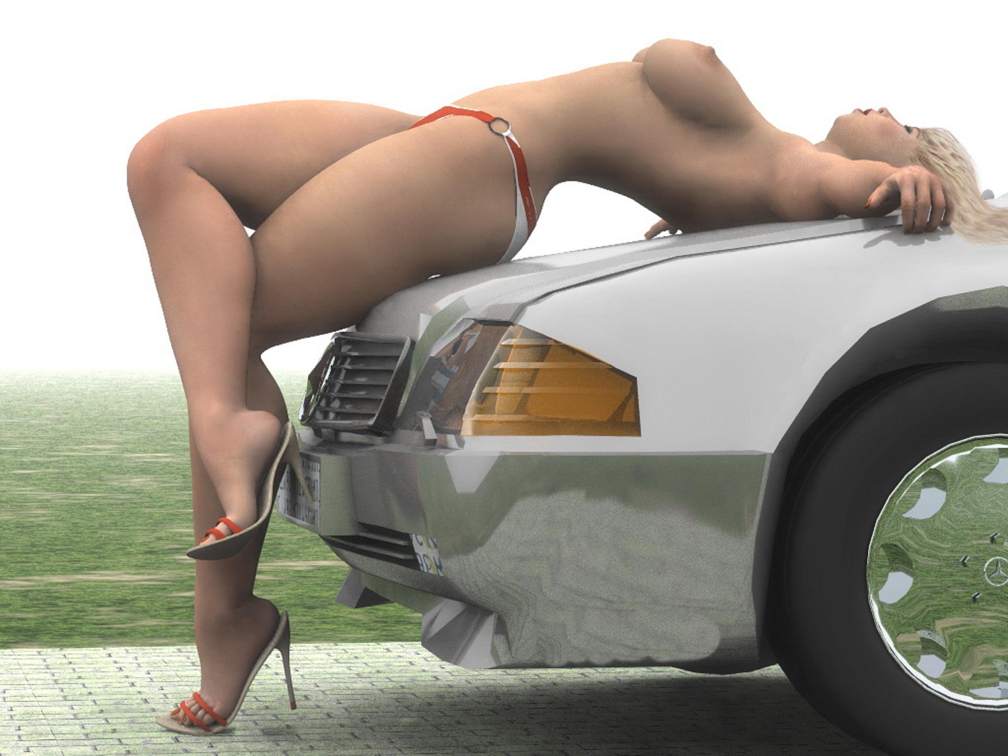 Wallpaper Girl On Car, Blonde, Legs, Car, Tits, Sexy -1739