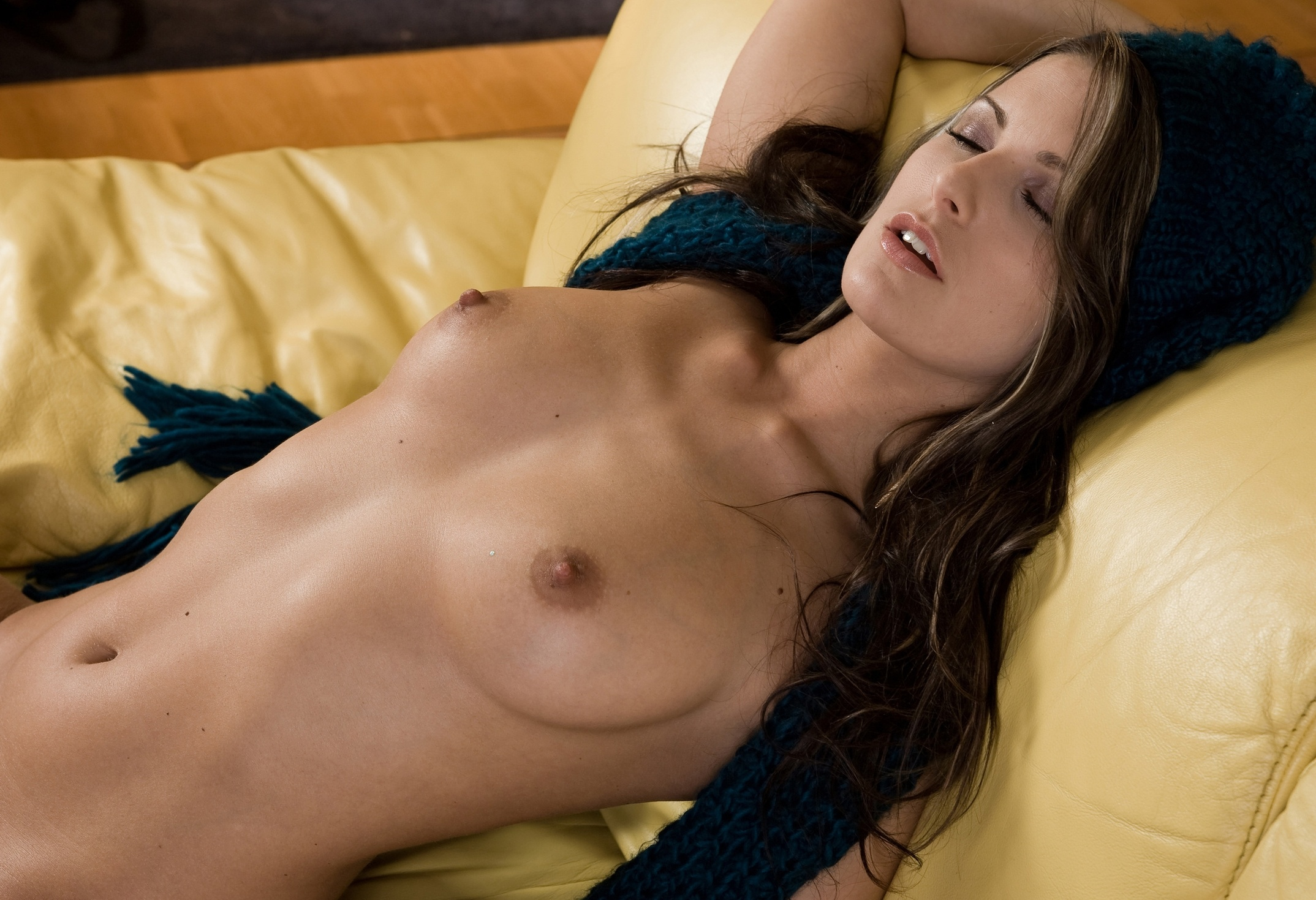 Wallpaper Nude, Tits, Brunette, Sleeping, Hot, Girl Desktop Wallpaper -5527