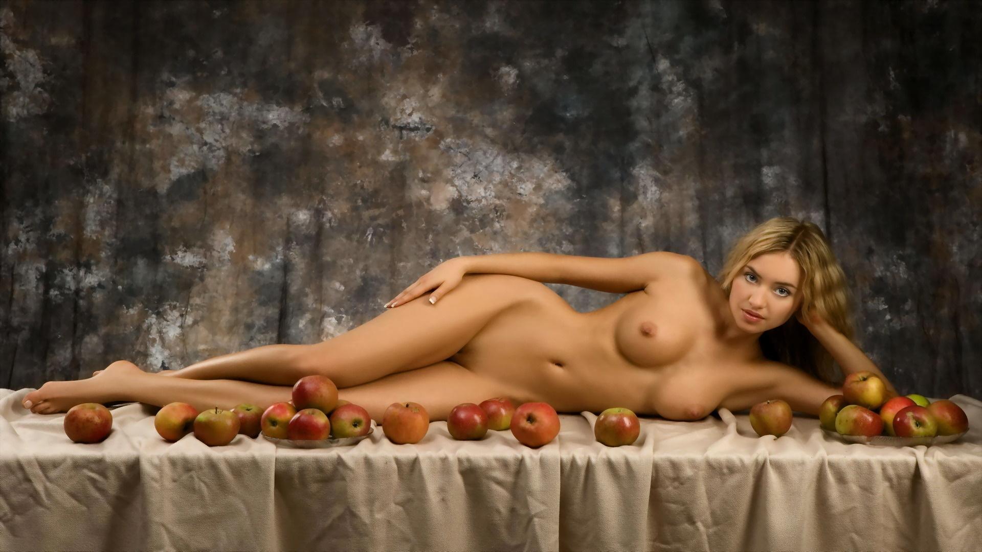 Wallpaper lia may, lia, apple, nude, tits, apple, apples, widescreen ...