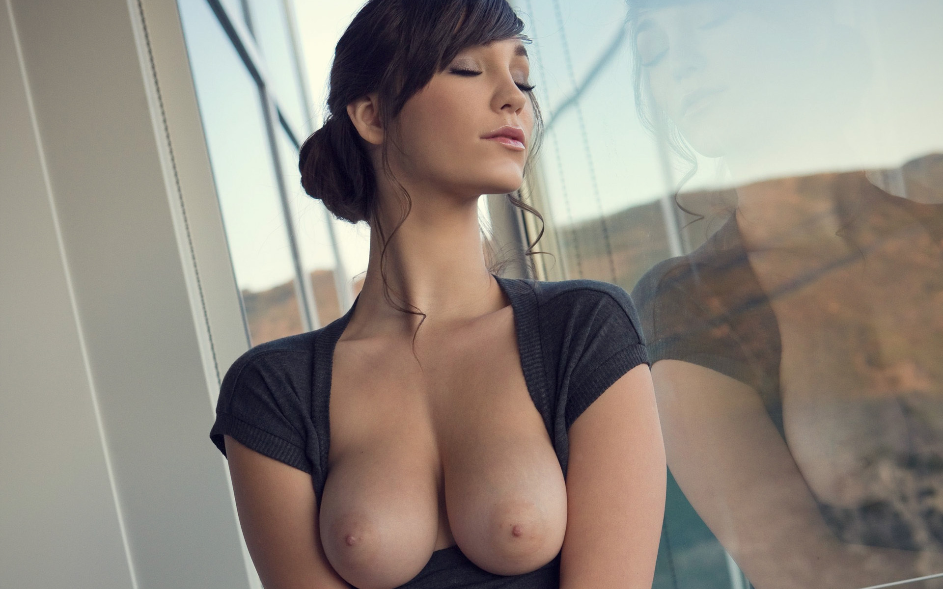 Window peep 10 brunette big tits Part 6 10