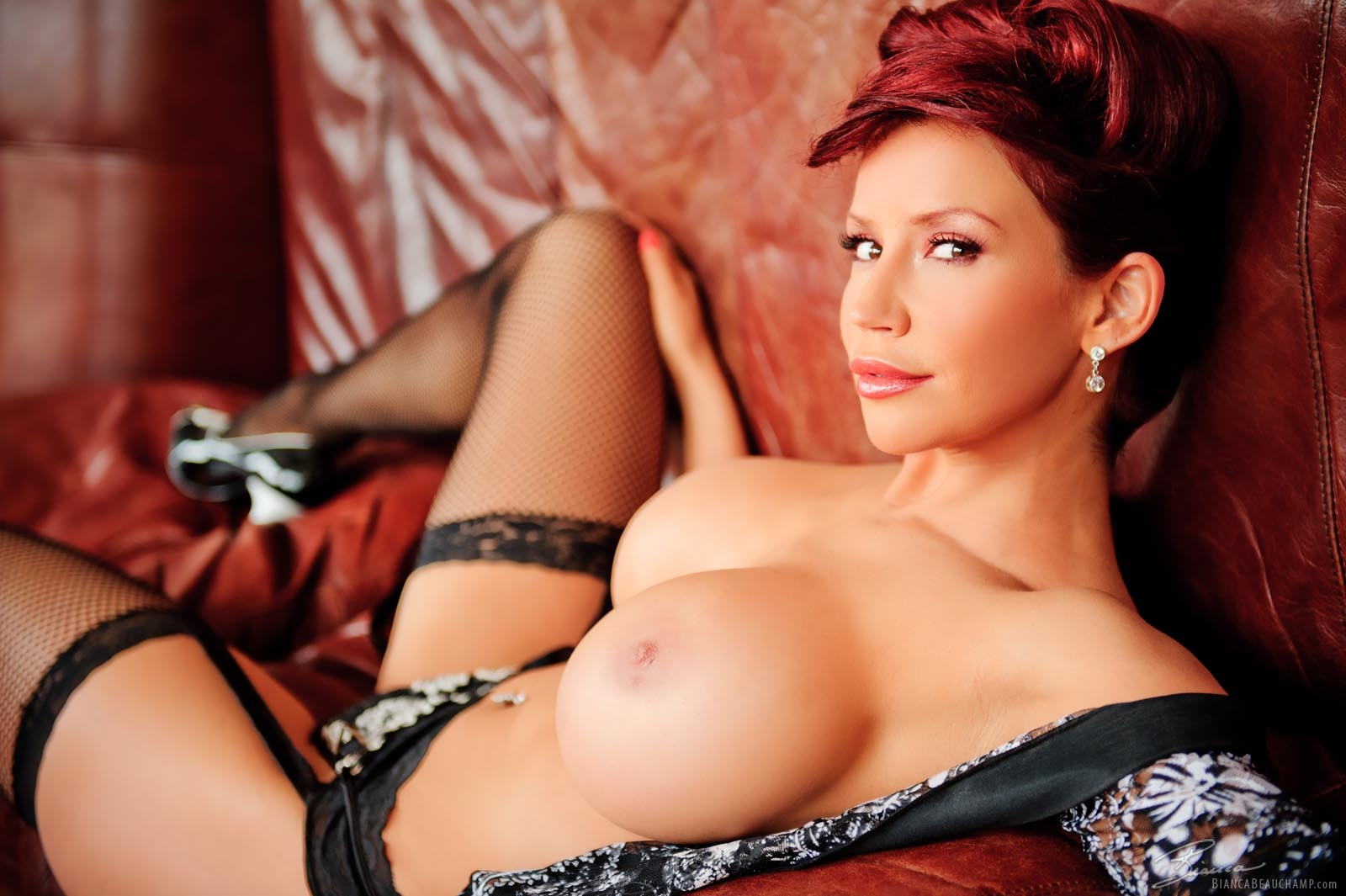 Wallpaper Bianca Beauchamp, Big Tits, Sexy, Lingerie, Boobs, Stockings, Redhead, Hooters, Hot, Sexy, Erotic, Round Ass, Round Boobs, Tight, Beauty -2107