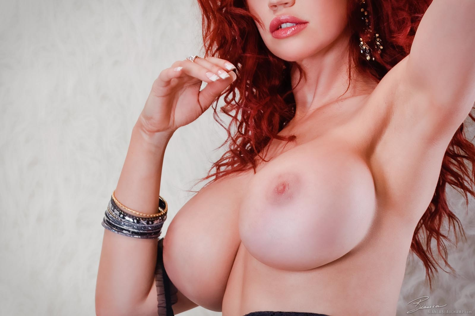 Wallpaper bianca beauchamp, big tits, sexy, boobs, redhead, nipples,  hooters, hot, sexy, erotic, round ass, round boobs, tight, beauty,  lingerie, ...