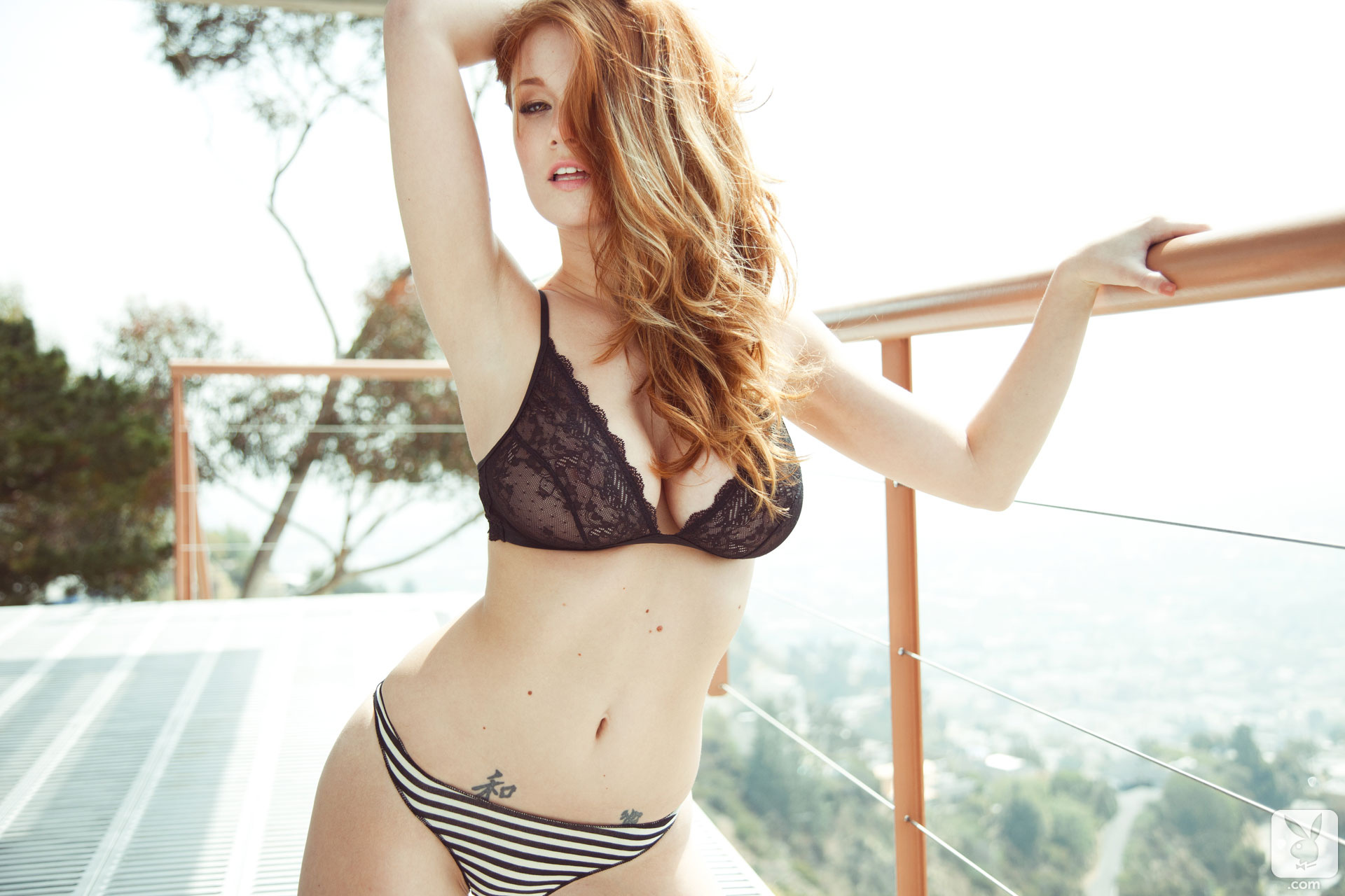 Foxy babe Leanna Decker showcasing her tempting body covered with lingerie  1101375