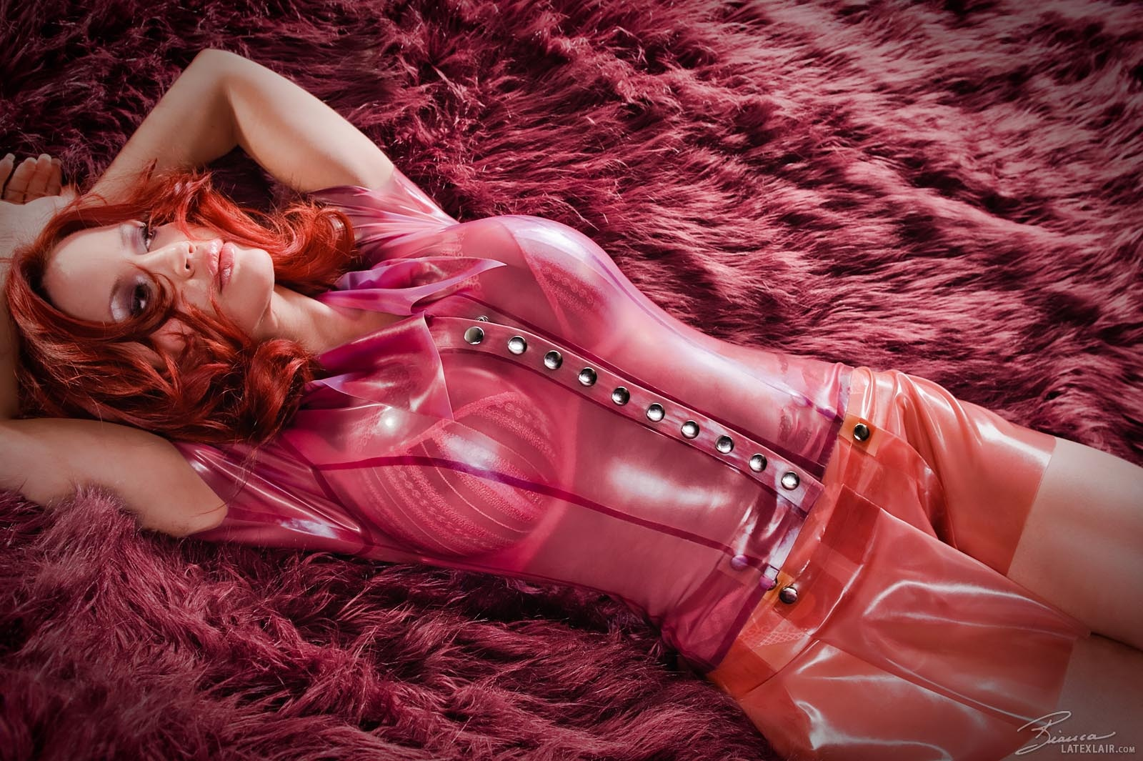 Sexy redhead latex girls not understand