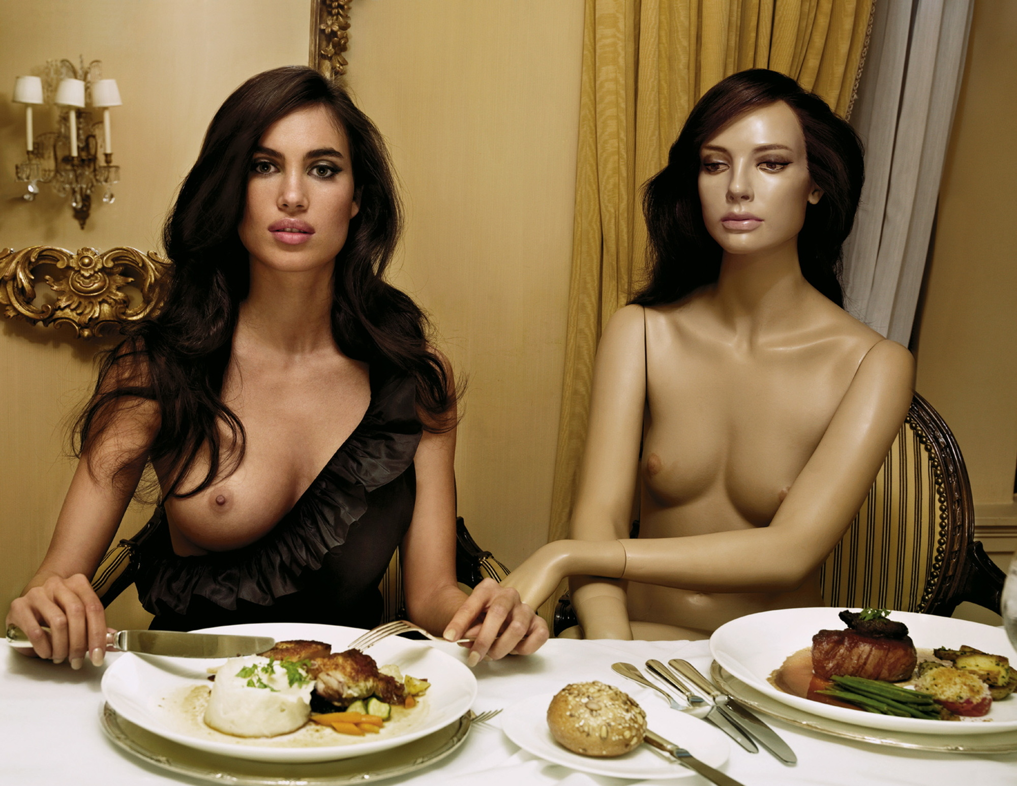 Naked and dinner hot