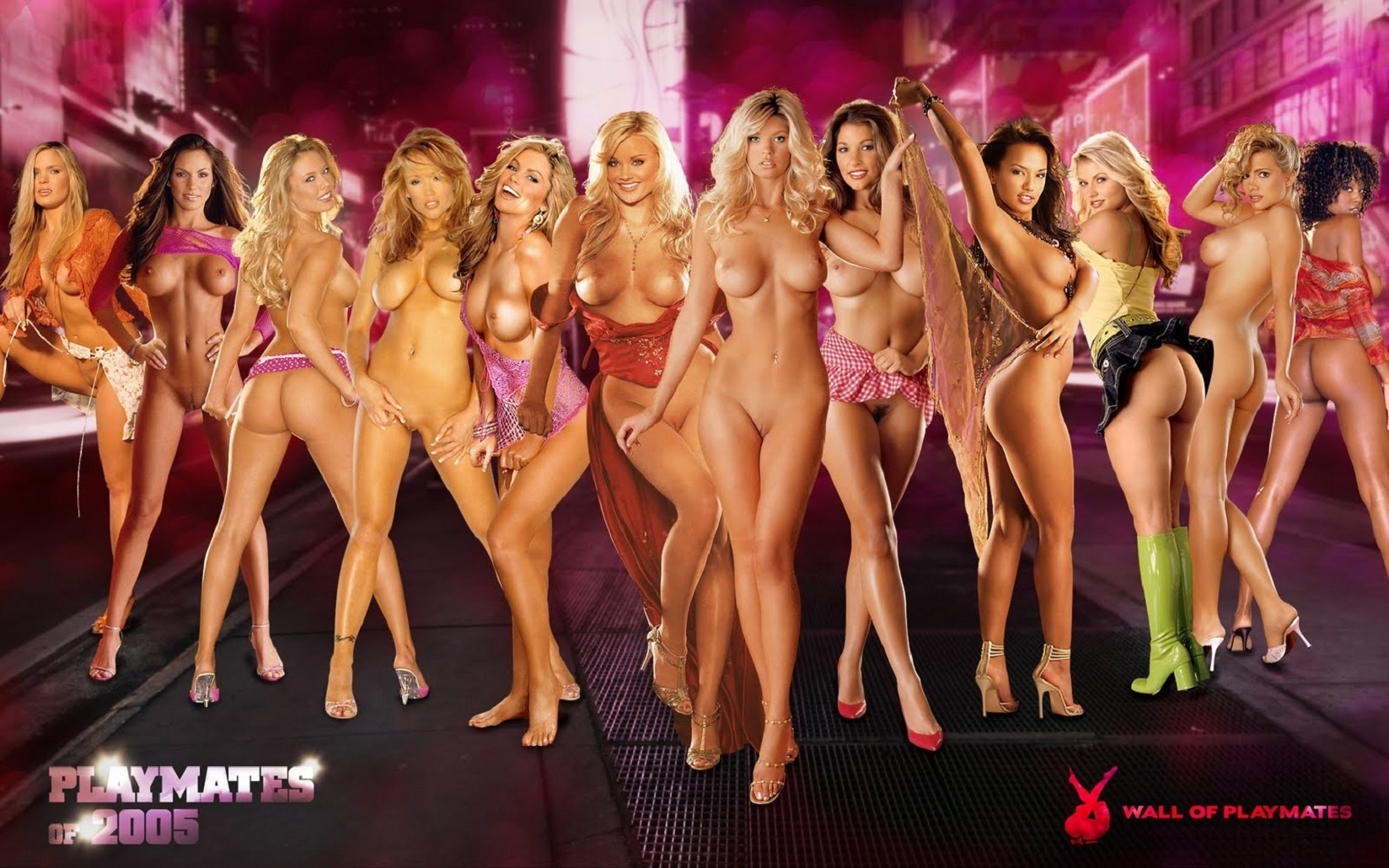 Wallpaper Playmates, Playmate, Playboy, Nude, Girls, Group -1214