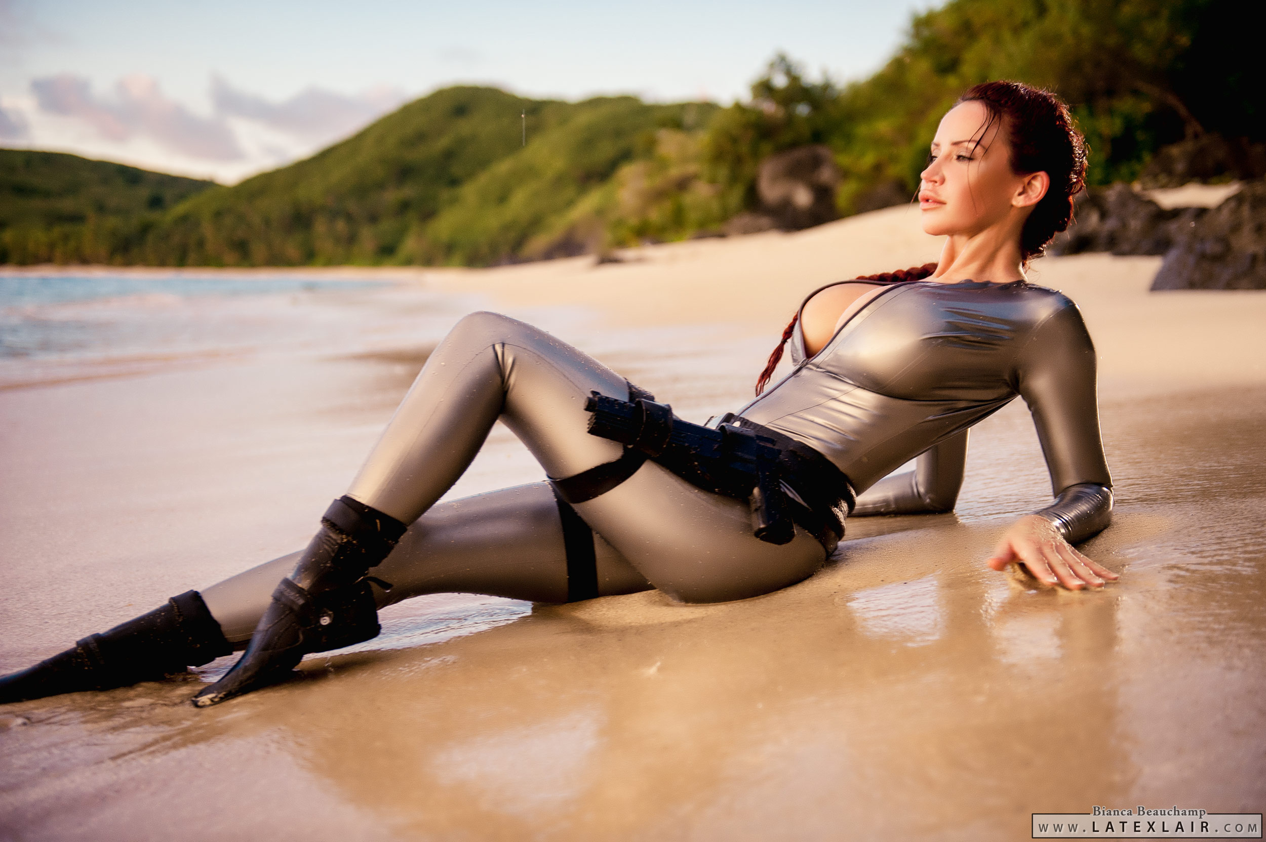 Sexy latex lara croft xxx film