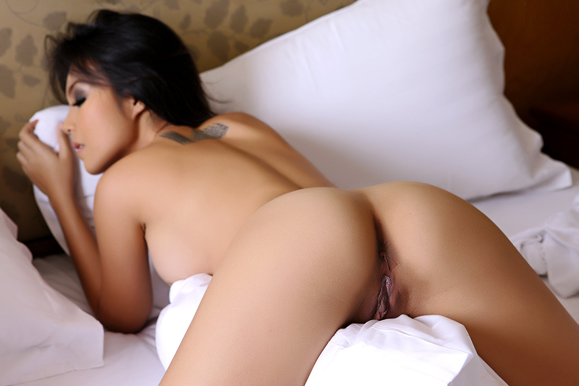 Wallpaper Asian, Brunette, Hot, Sexy, Aveta, Ass, Pussy -8013