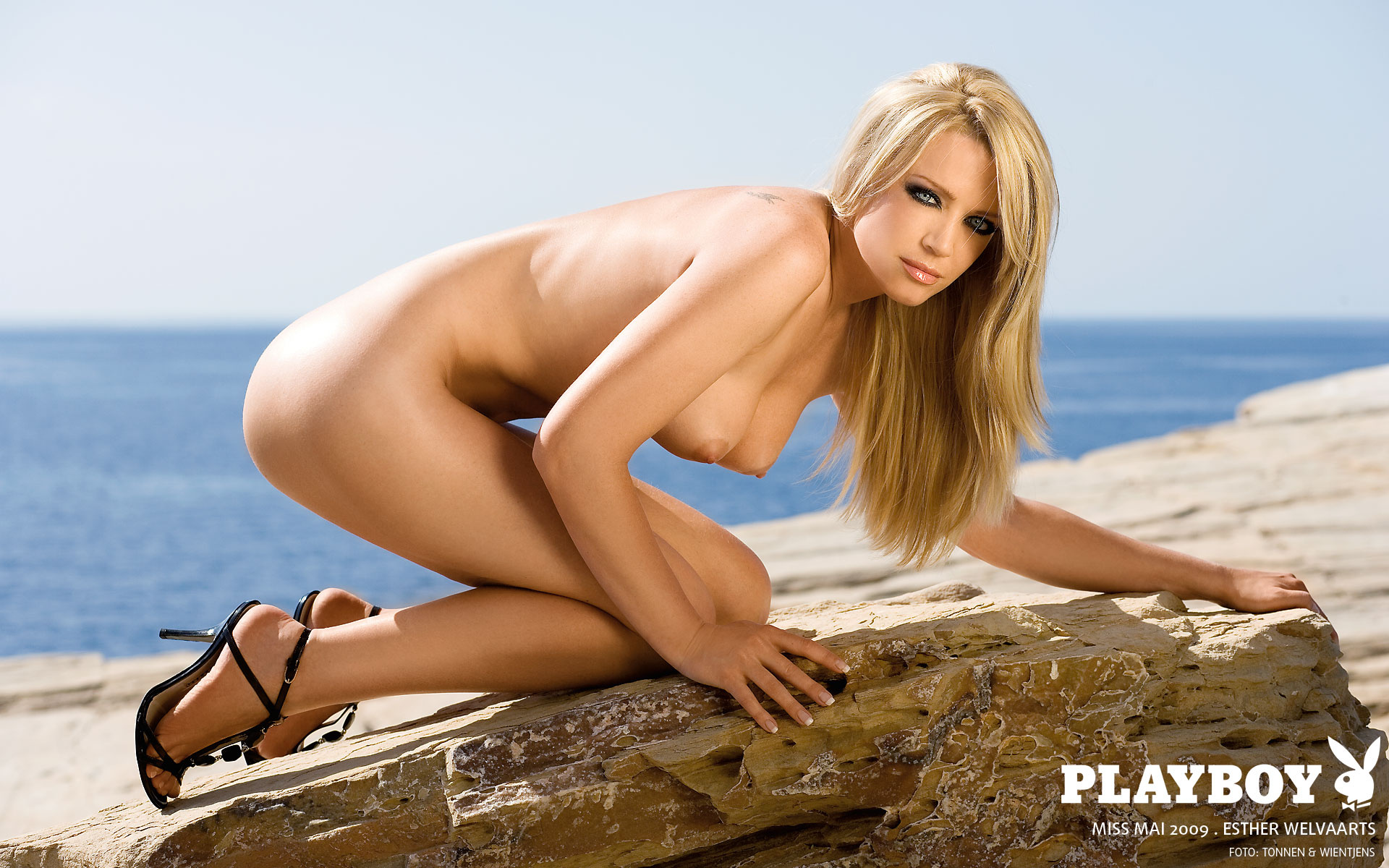 Wallpaper Sexy, Nude, Beach, Playboy, Esther Welvaarts -9376