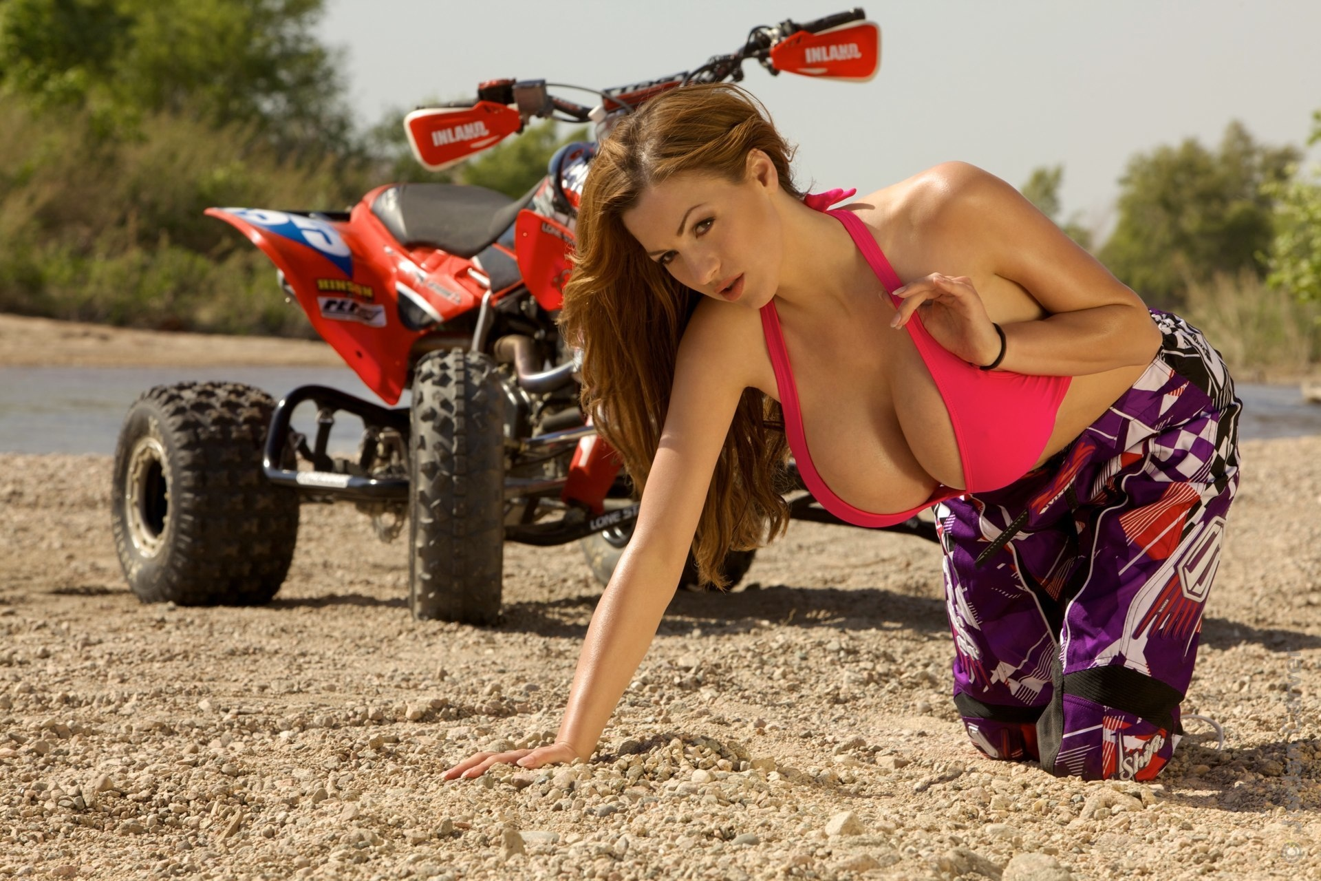 Are sexy naked girls on dirt bikes something is