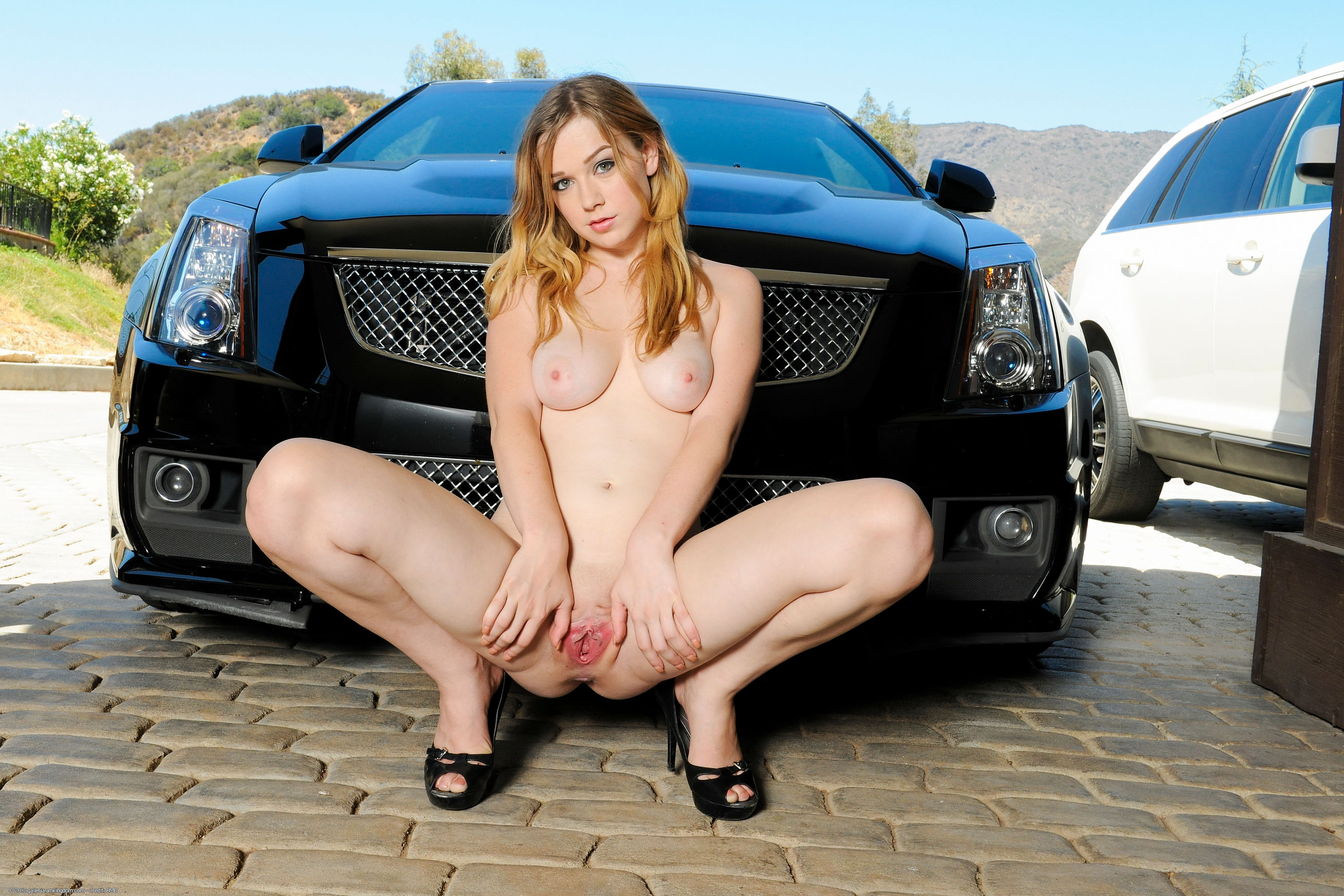 Wallpaper Alaina Fox, Sexy, Nude, Pussy, Car, Boobs -3861
