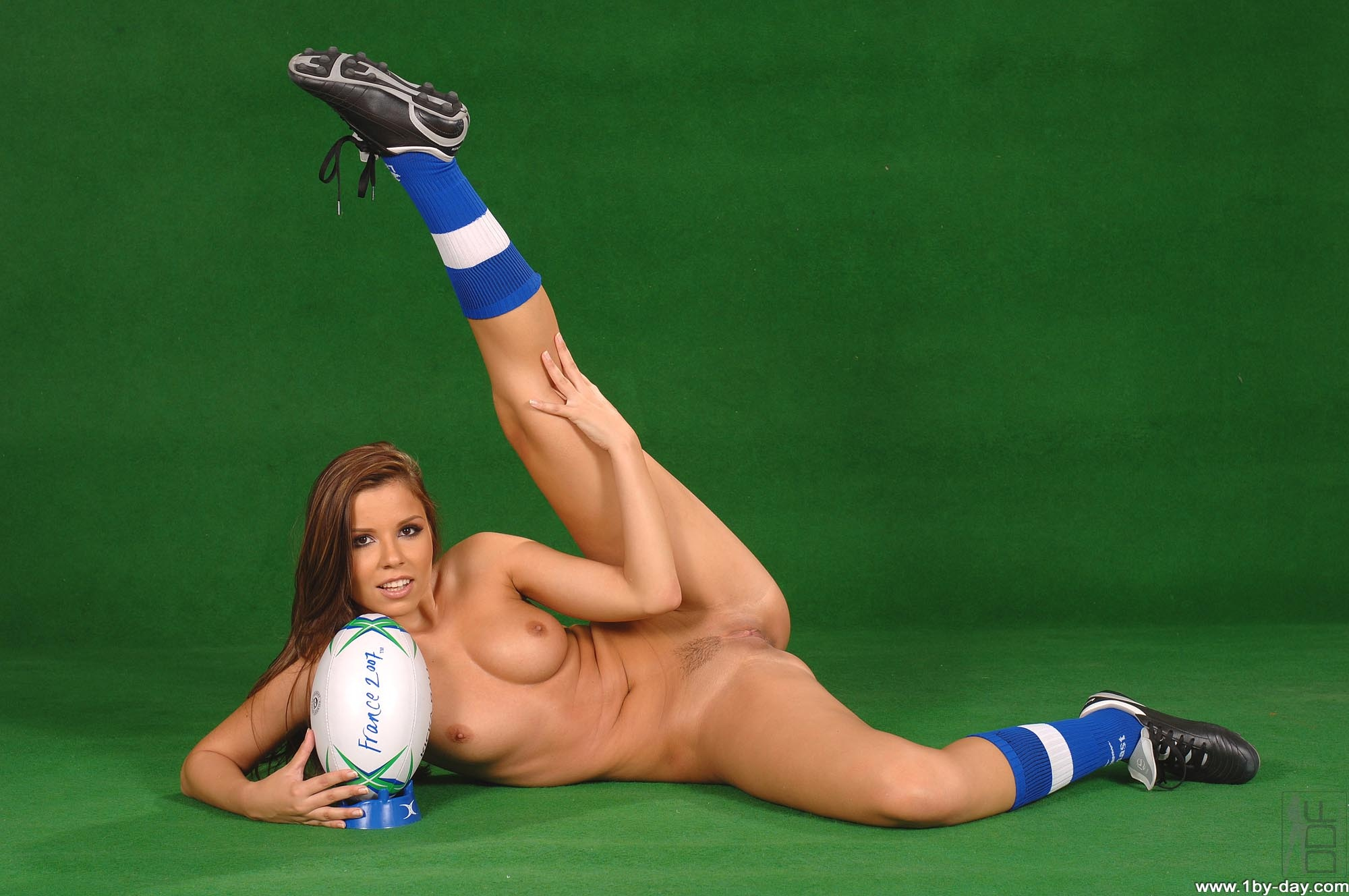 Wallpaper Rugby, Ball, Shoes, Socks, Nude, Tits, Pussy -4433