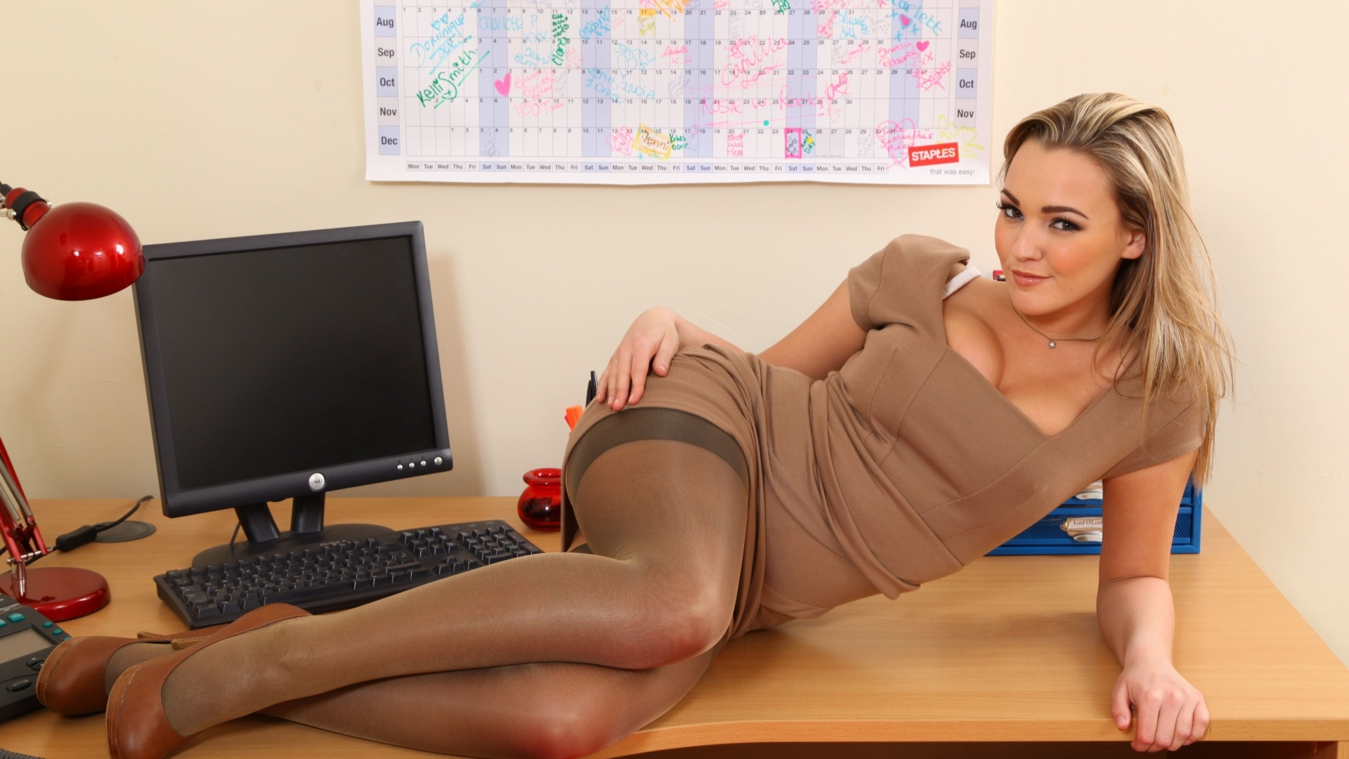 Hot sexy office girl consider, that