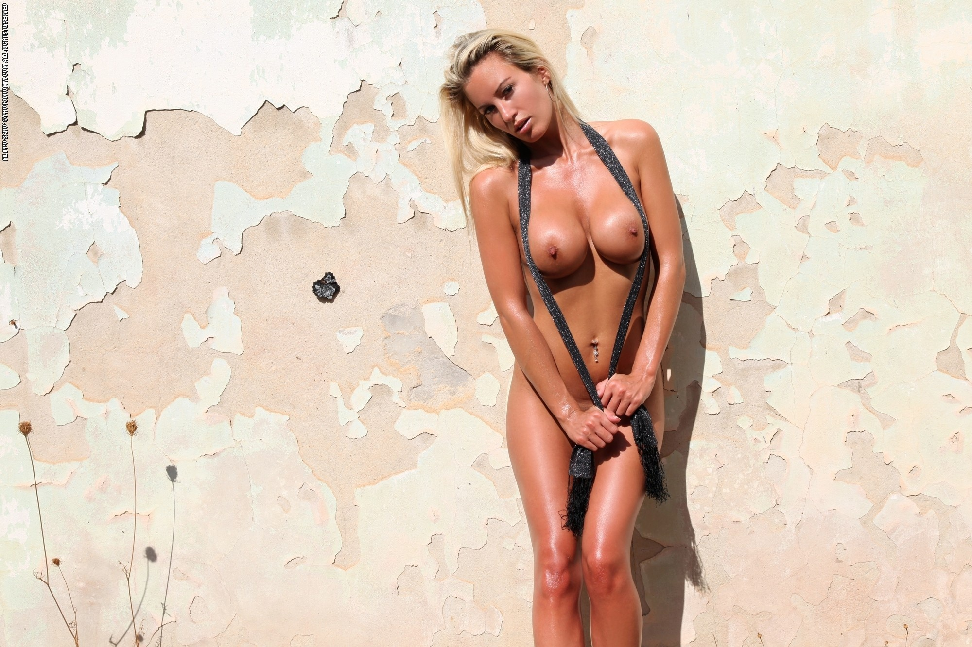 blonde naked Scarf
