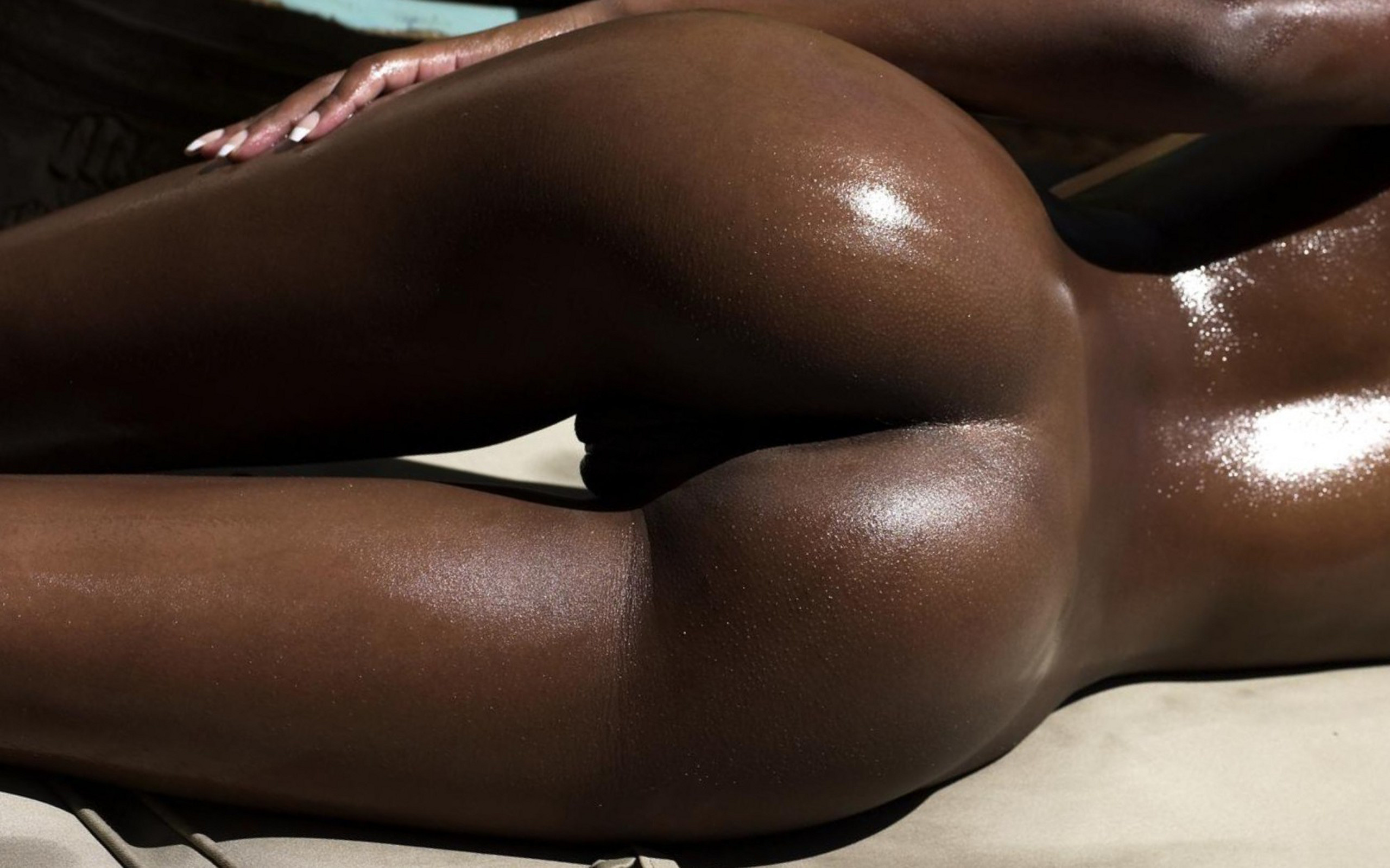 Wallpaper Black, Sexy, Pussy, Ass, Gap, Cameltoe, Oiled -1573