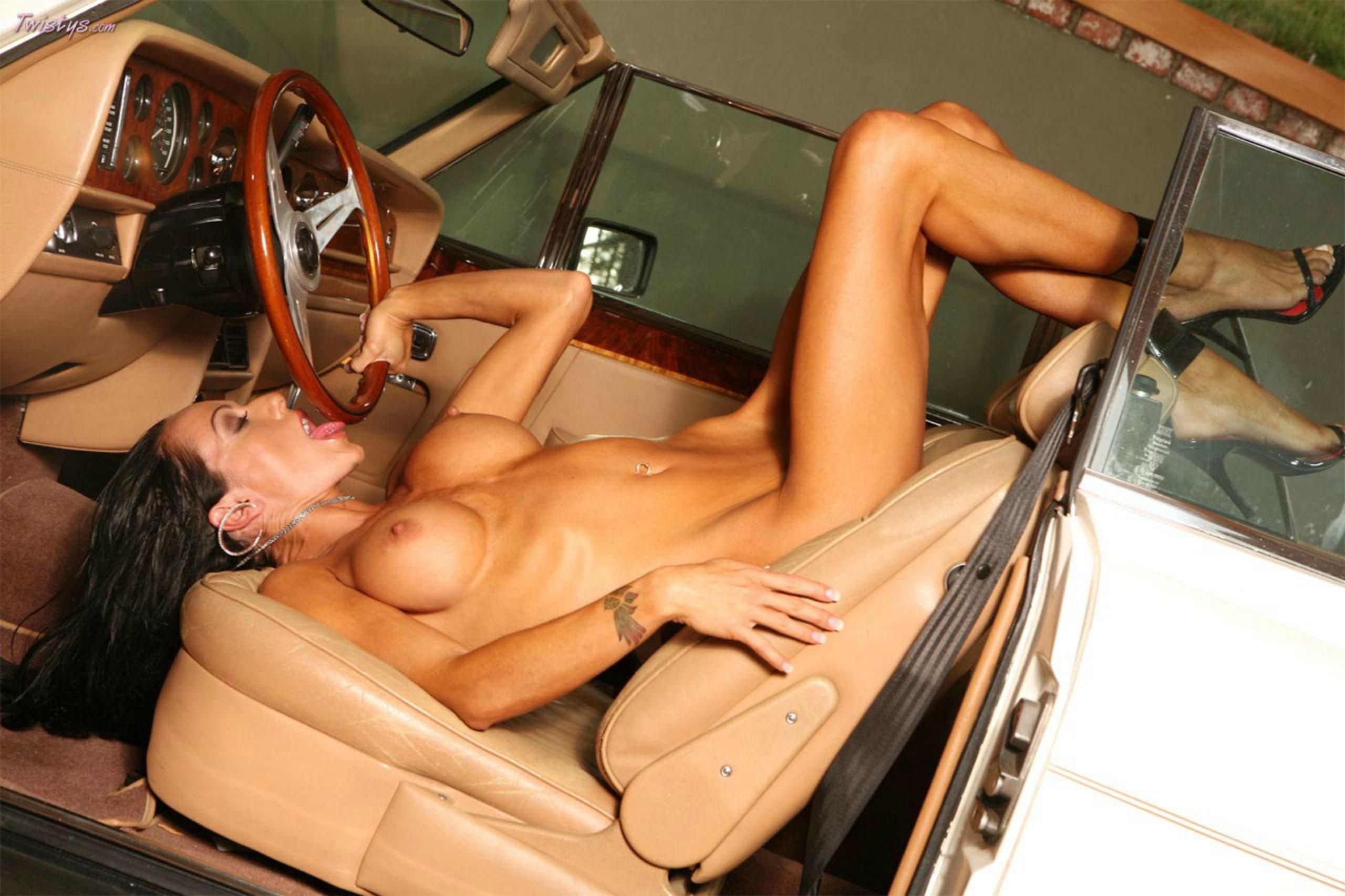 Wallpaper Ashley Kahsaklahwee, Nude, Heels, Auto, Tits -3223