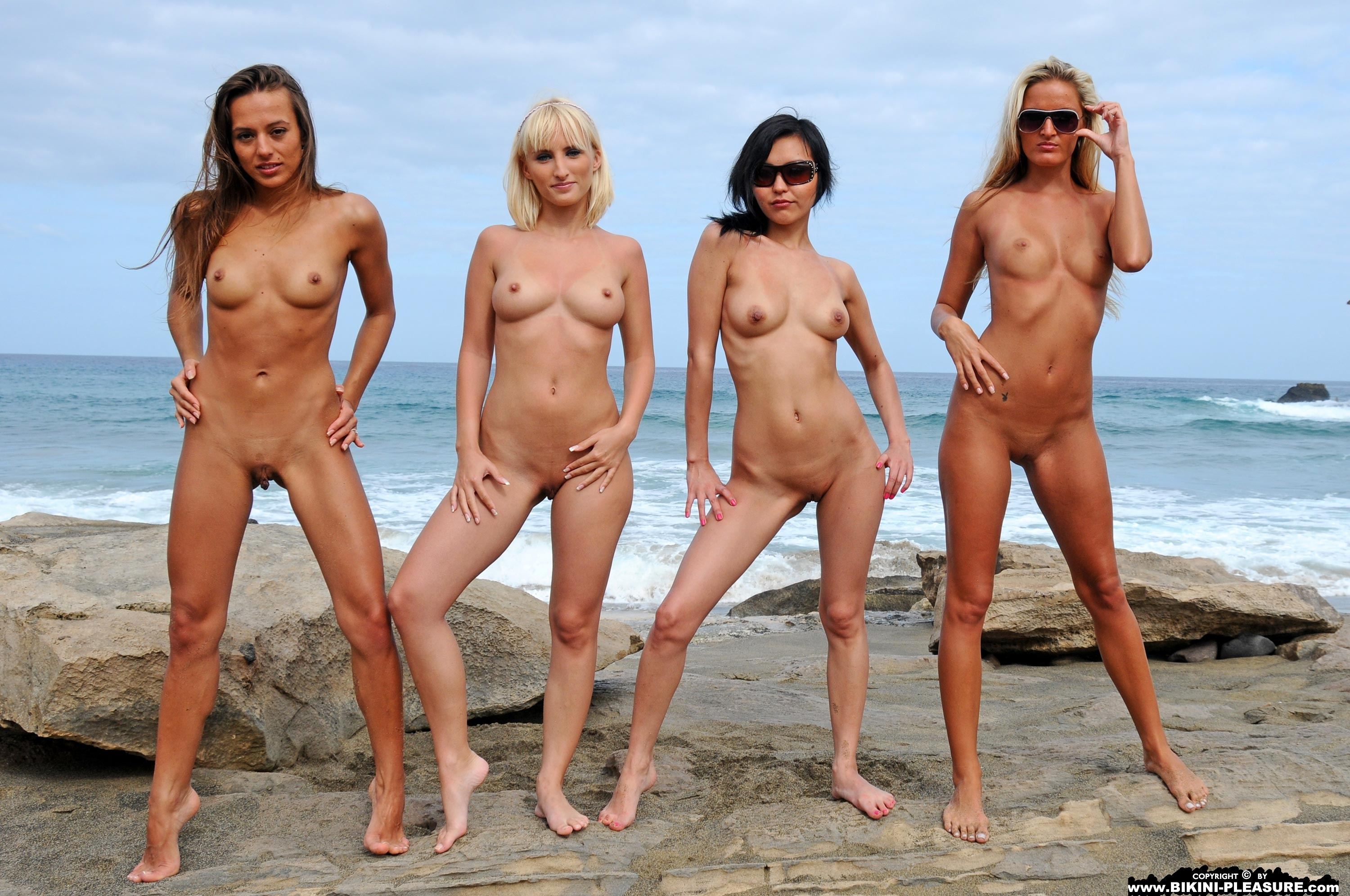 Girls four nude