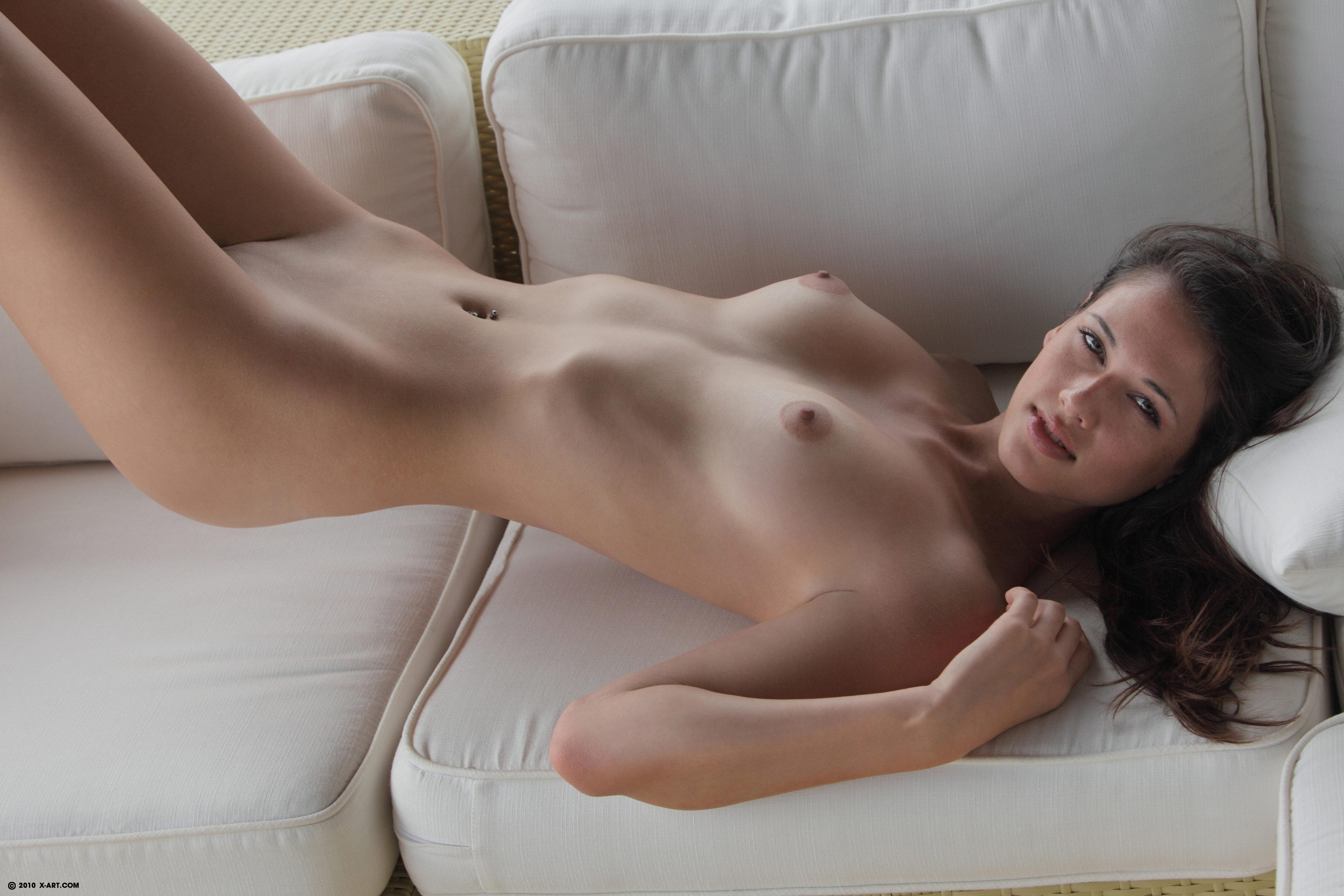 Wallpaper Tiffany, Brunette, Pussy, Legs, Piercing, Tits -8242