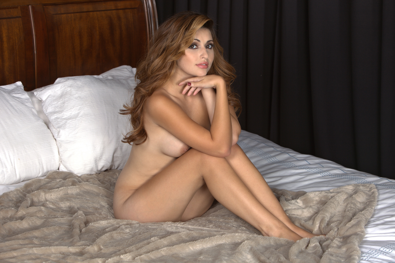 Wallpaper Natasha Malkova, Sexy Girl, Nude, Naked, Bed -4861