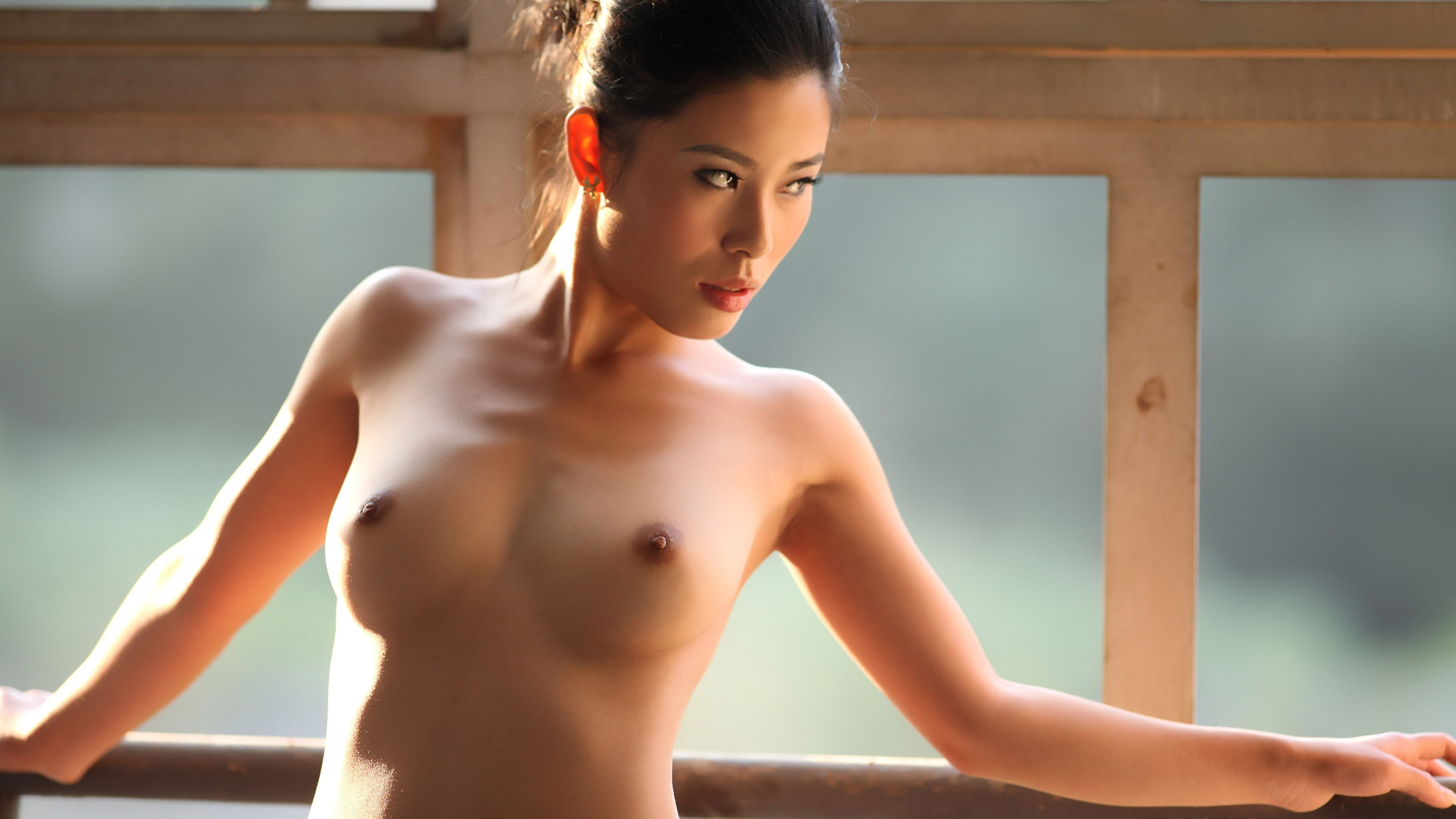 Wallpaper Asian, Brunette, Women, Nude, Sexy, Boobs, Tits -6961