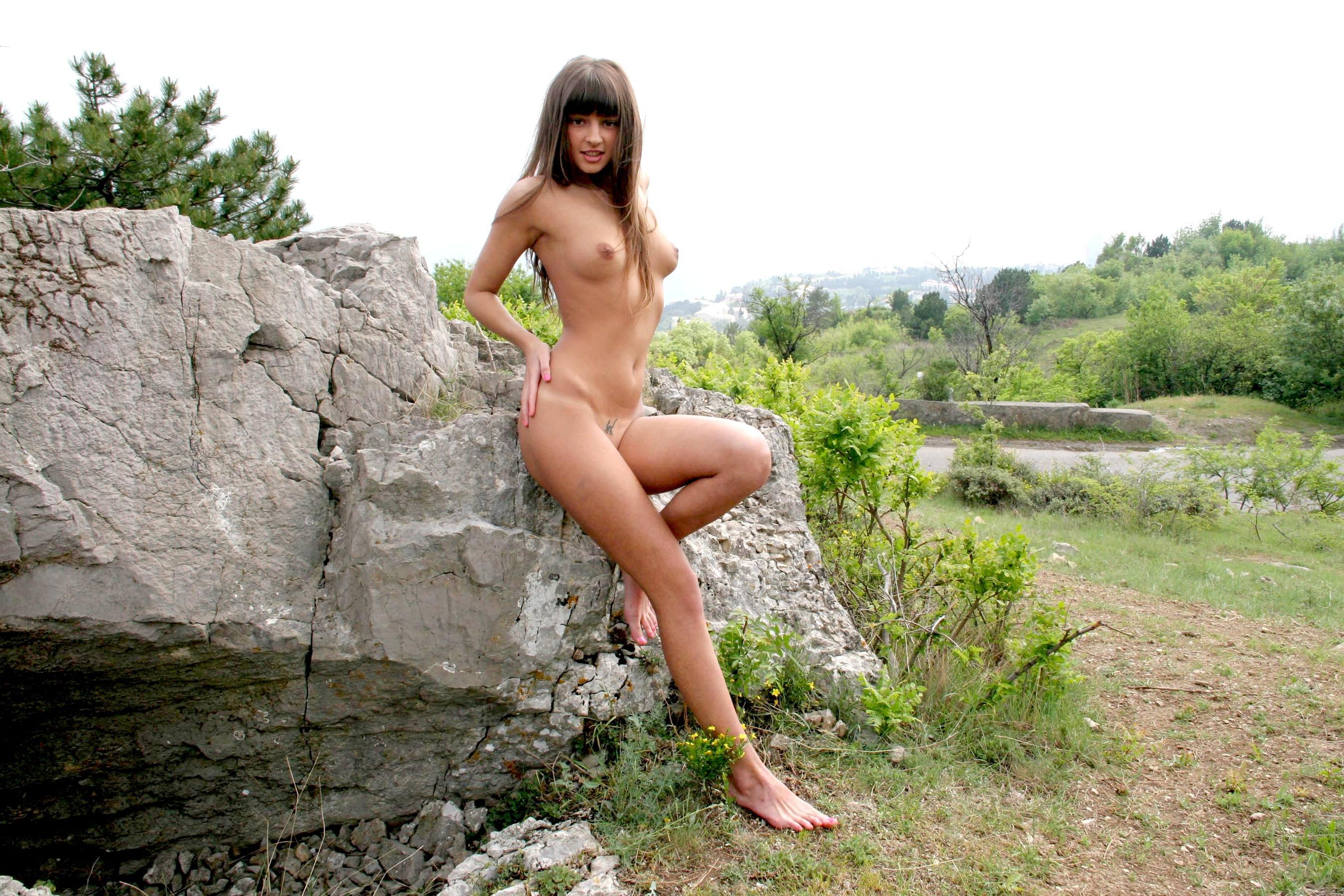 Wallpaper Melena, Brunette, Nude, Naked, Girls, Sexy, Amateur, Model -7387
