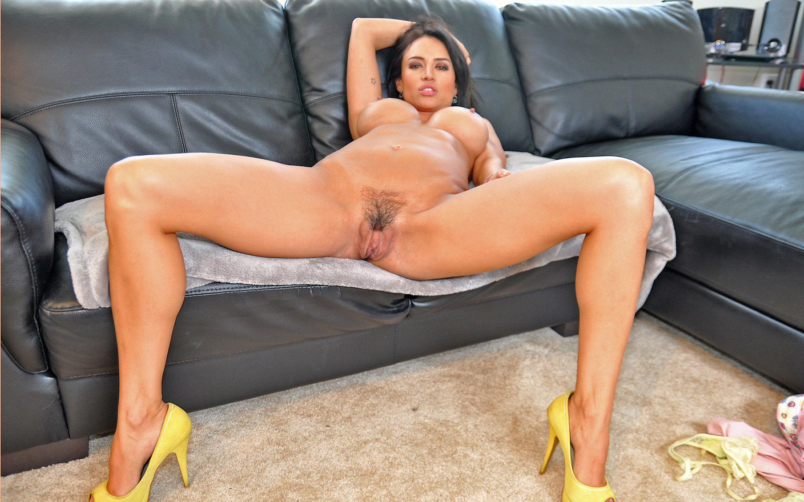 Very valuable brunette legs spread wide are