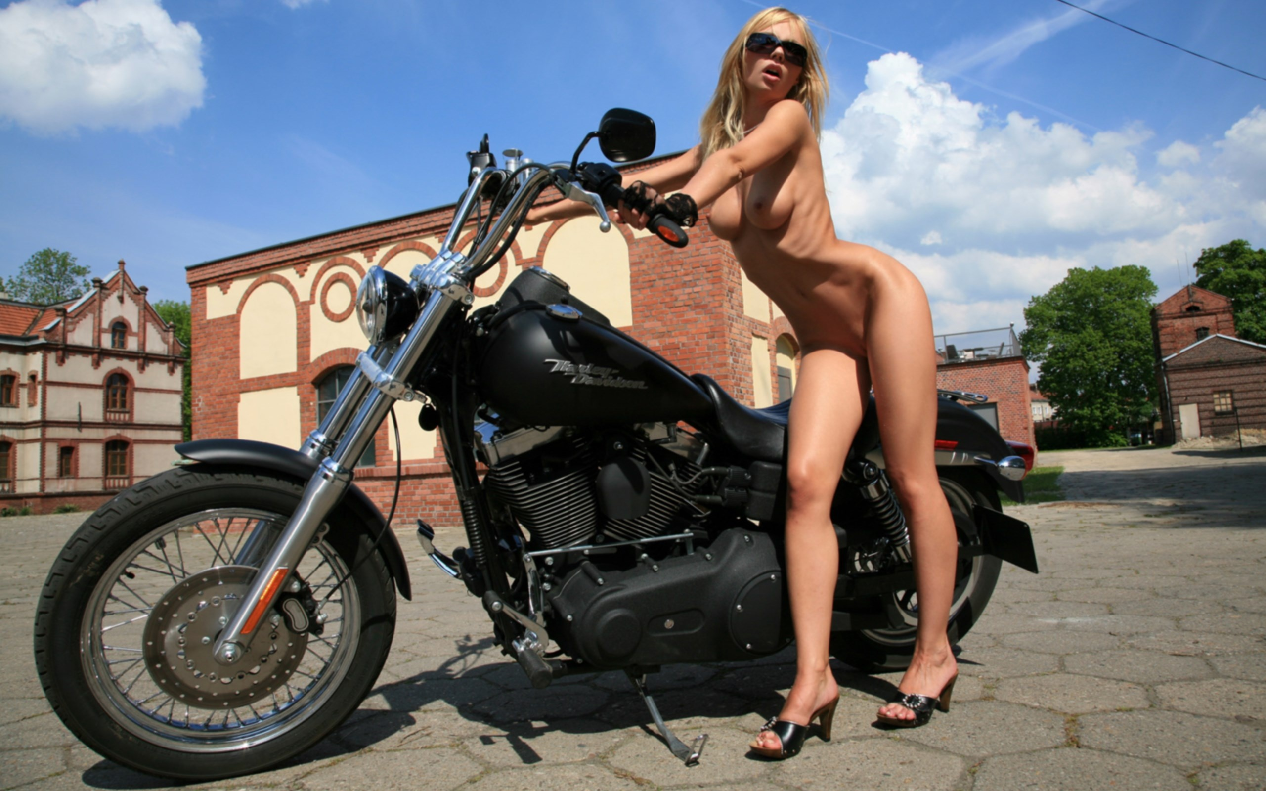 nude bobber motorcycles babes