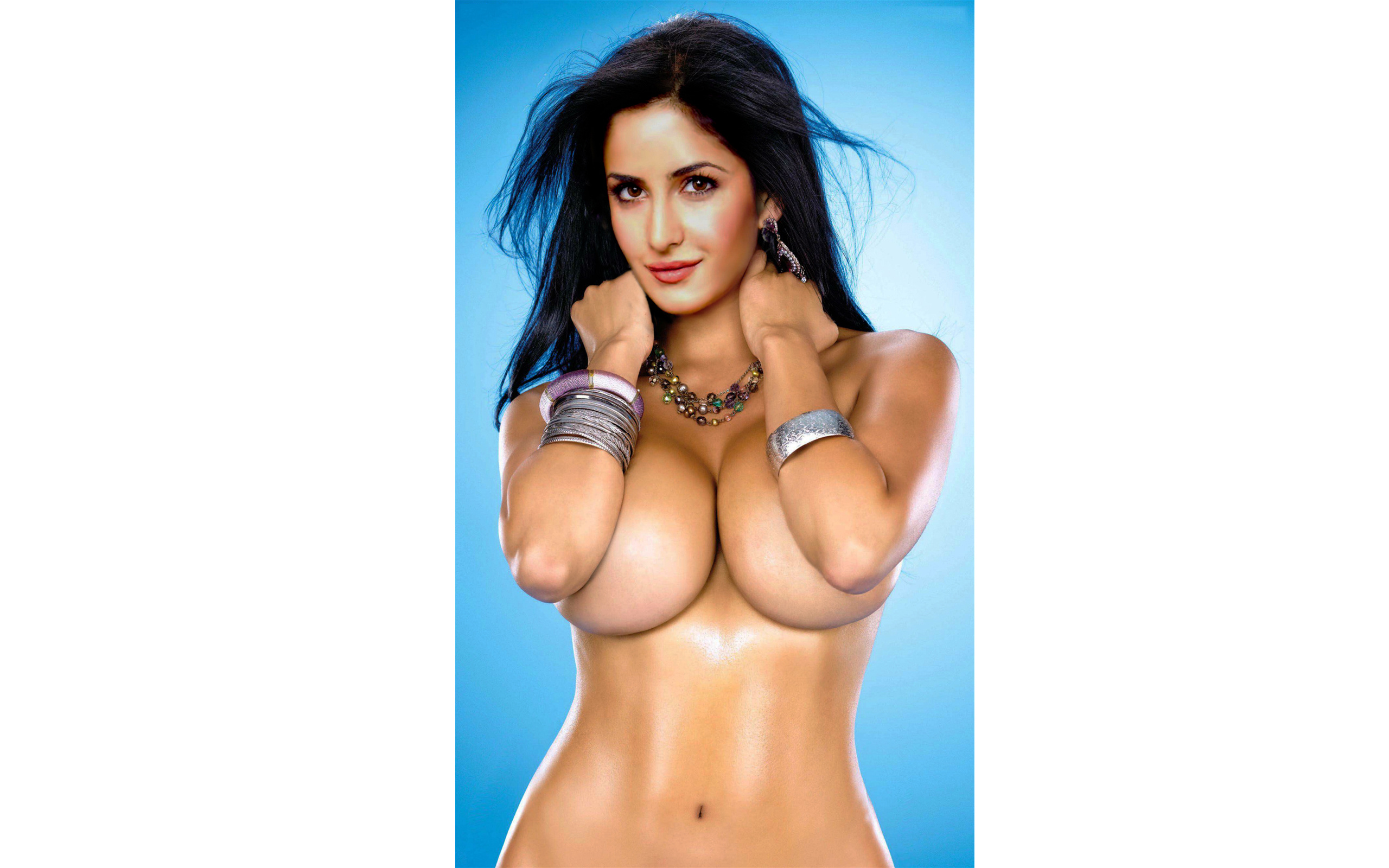 Wallpaper Katrina Kaif, Bollywood Actress, Fake, Big Boobs -7557