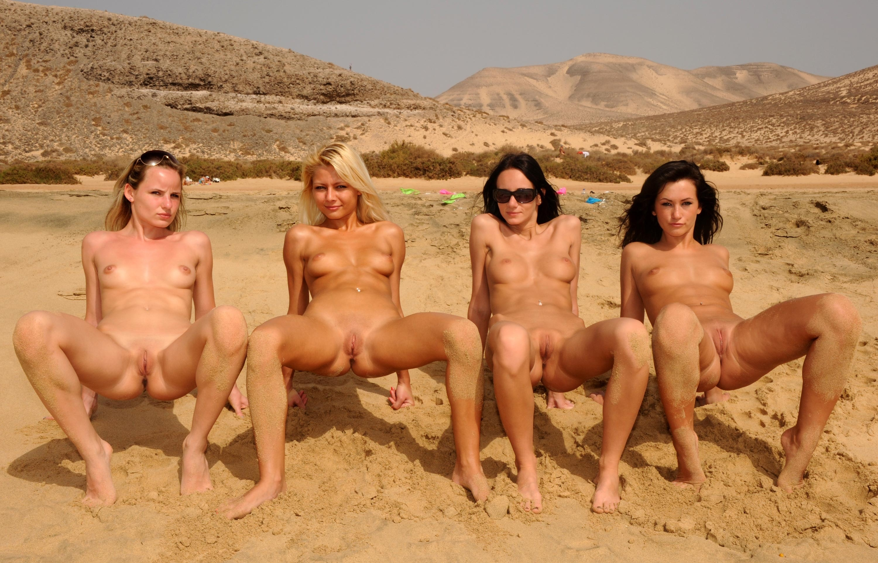 group nude pussy Free nudist naked beach babe pictures! babes showing they're ...