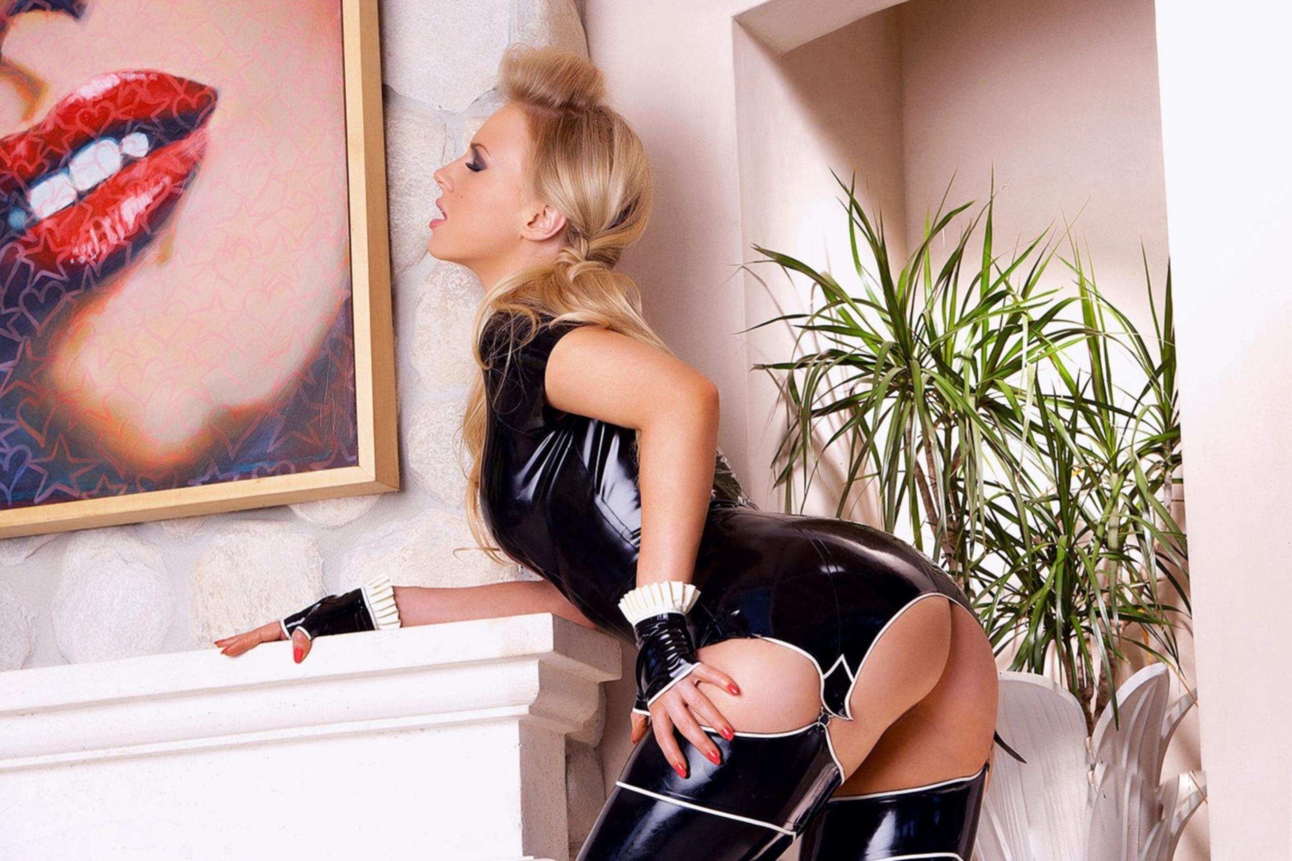 Ancilla Van De Leest Porn wallpaper ancilla tilia blondes women latex stockings