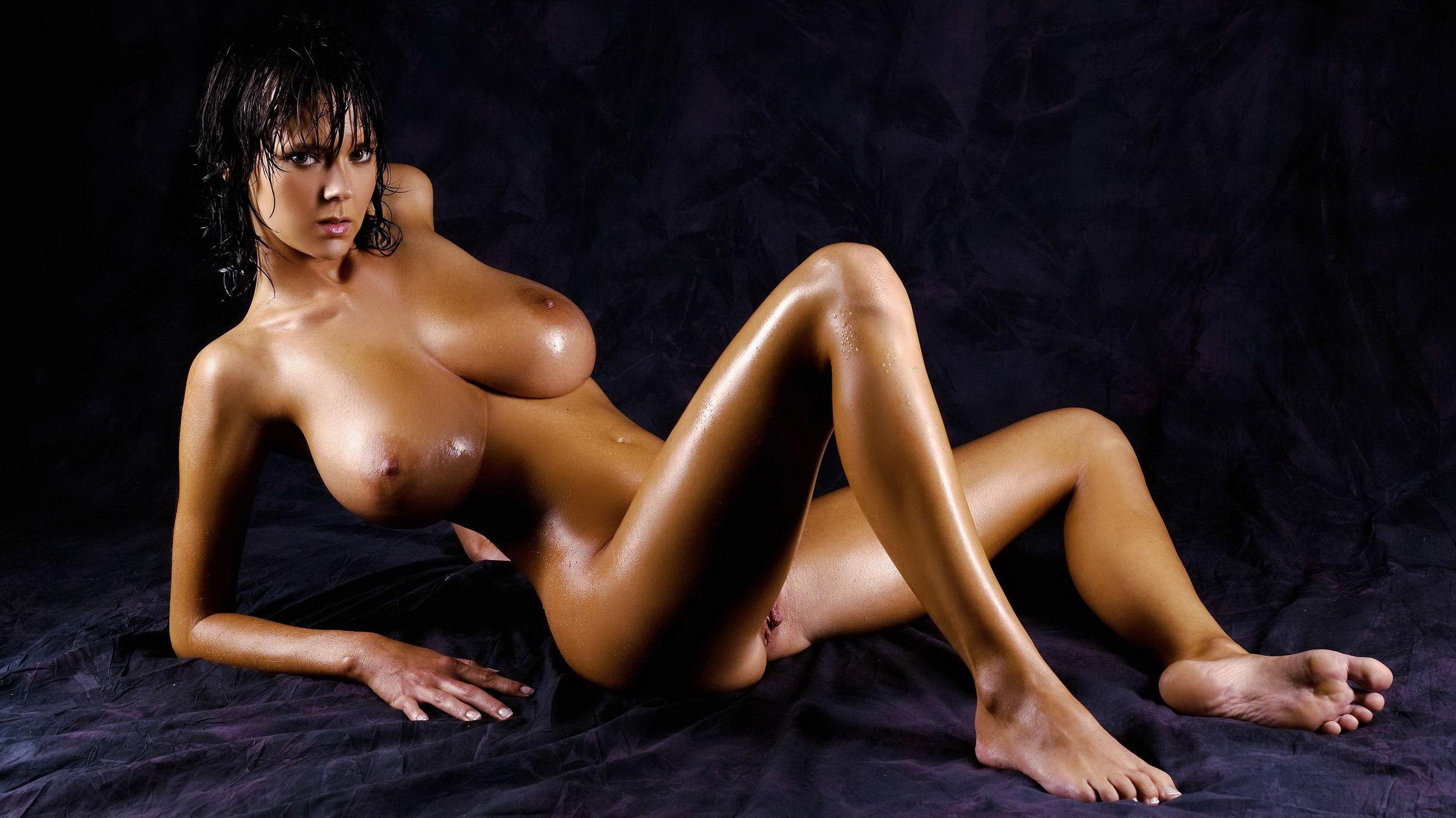 Wallpaper busty, big tits, nude, brunette, soft, legs, wet ...