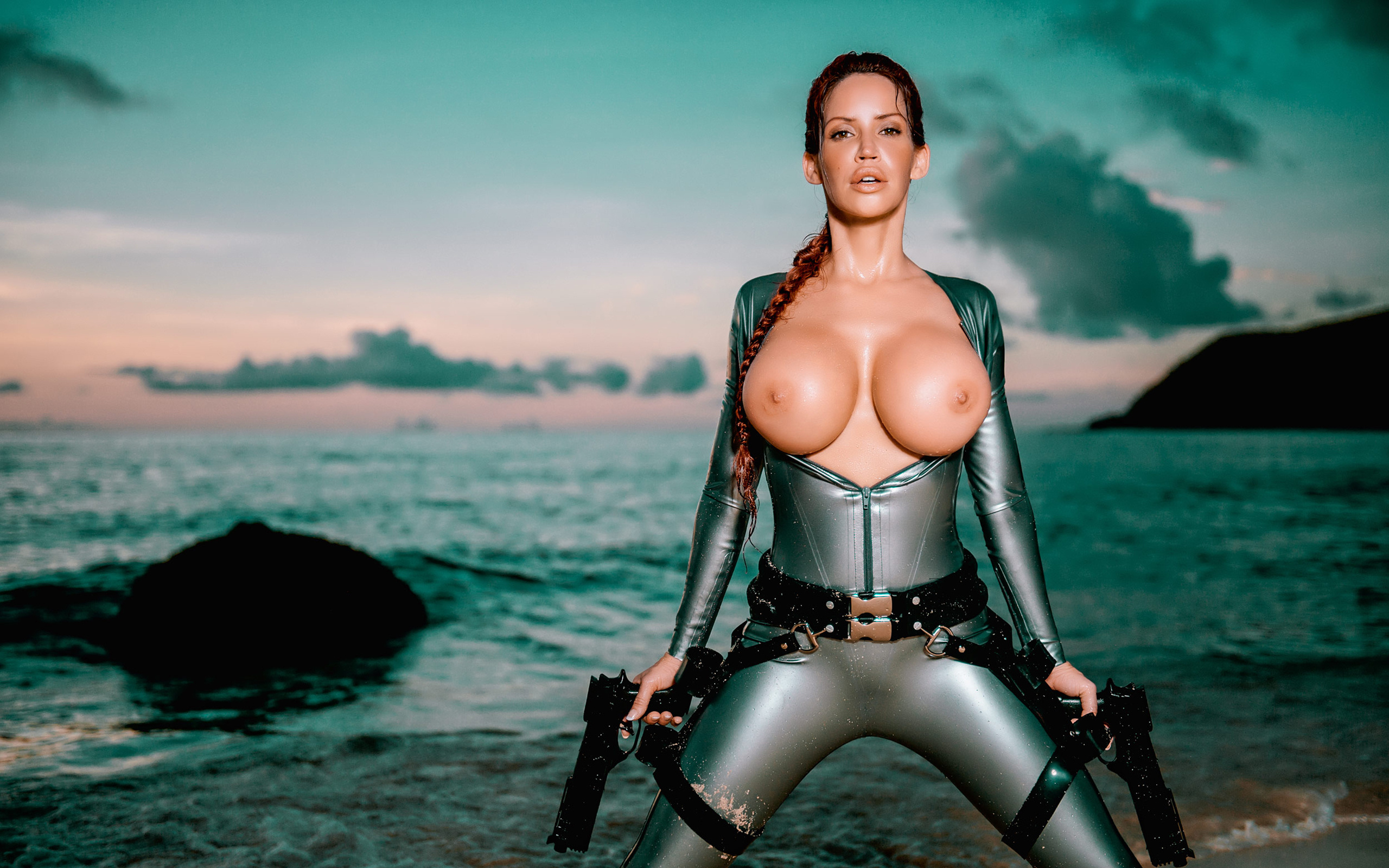 Sexy hot big boobed lara croft nude nackt image