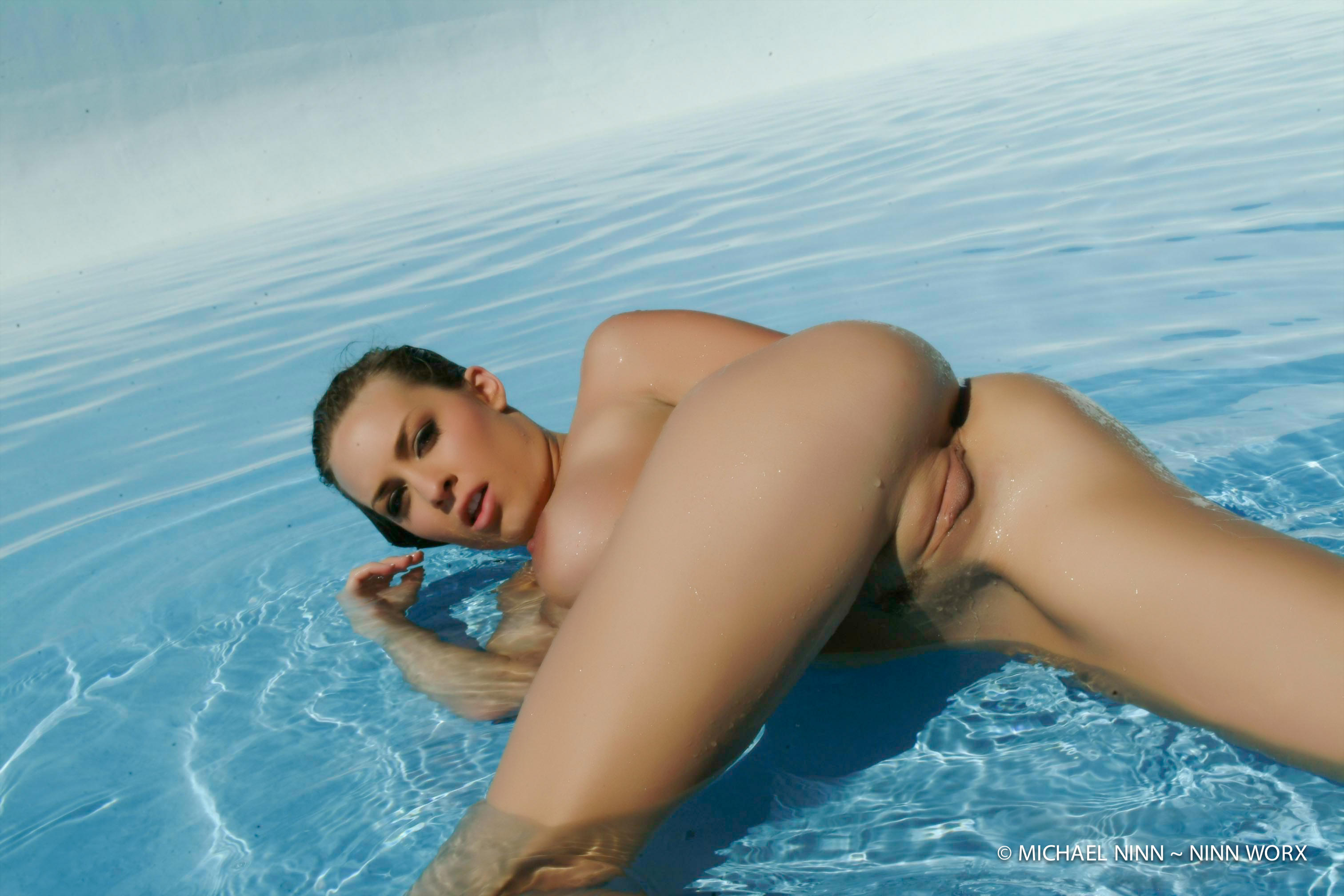 Anais Alexandra wallpaper anais clit, cool brown, butt, pool, sexy, shaved