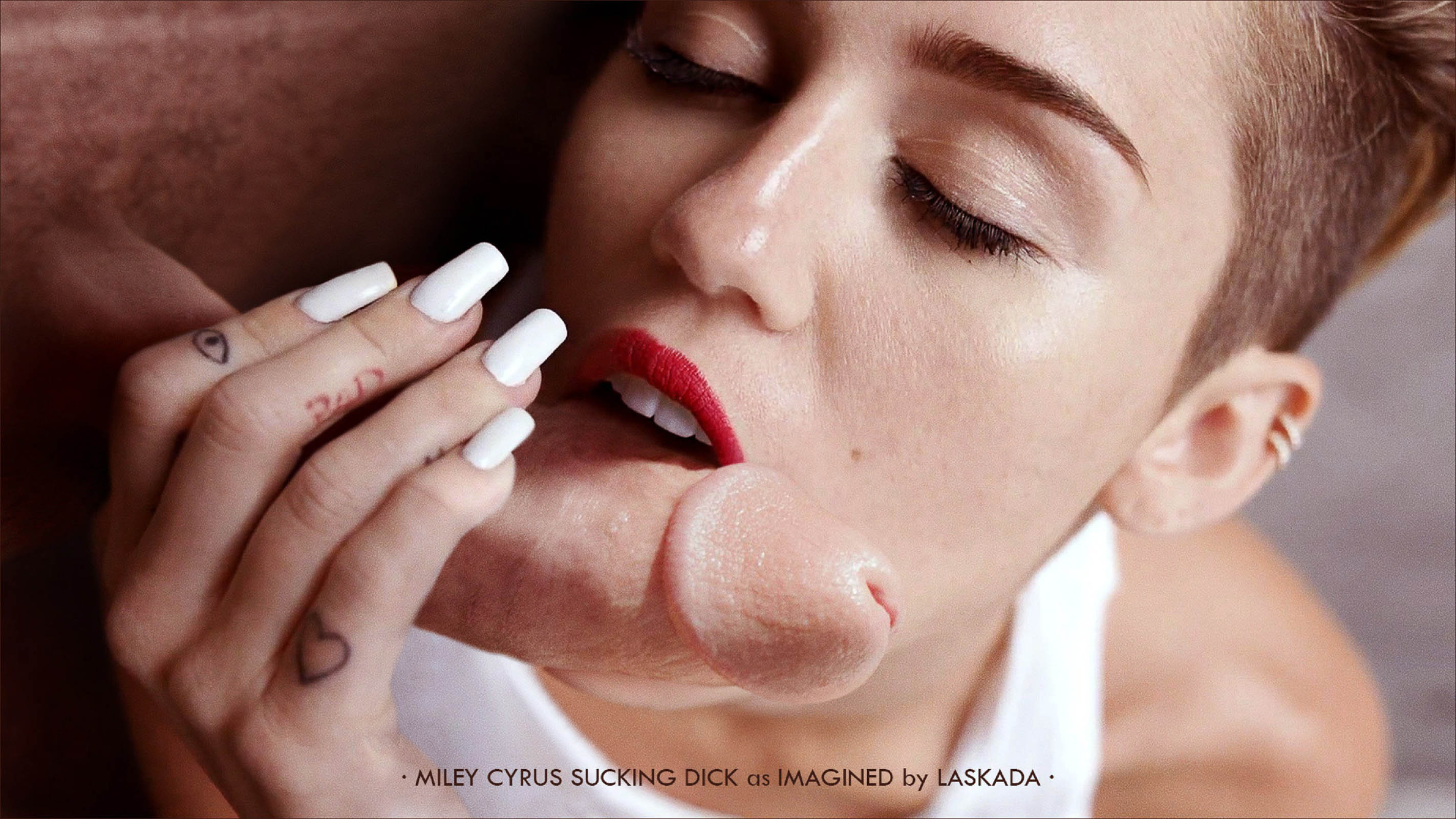 fake blowjob cyrus Miley