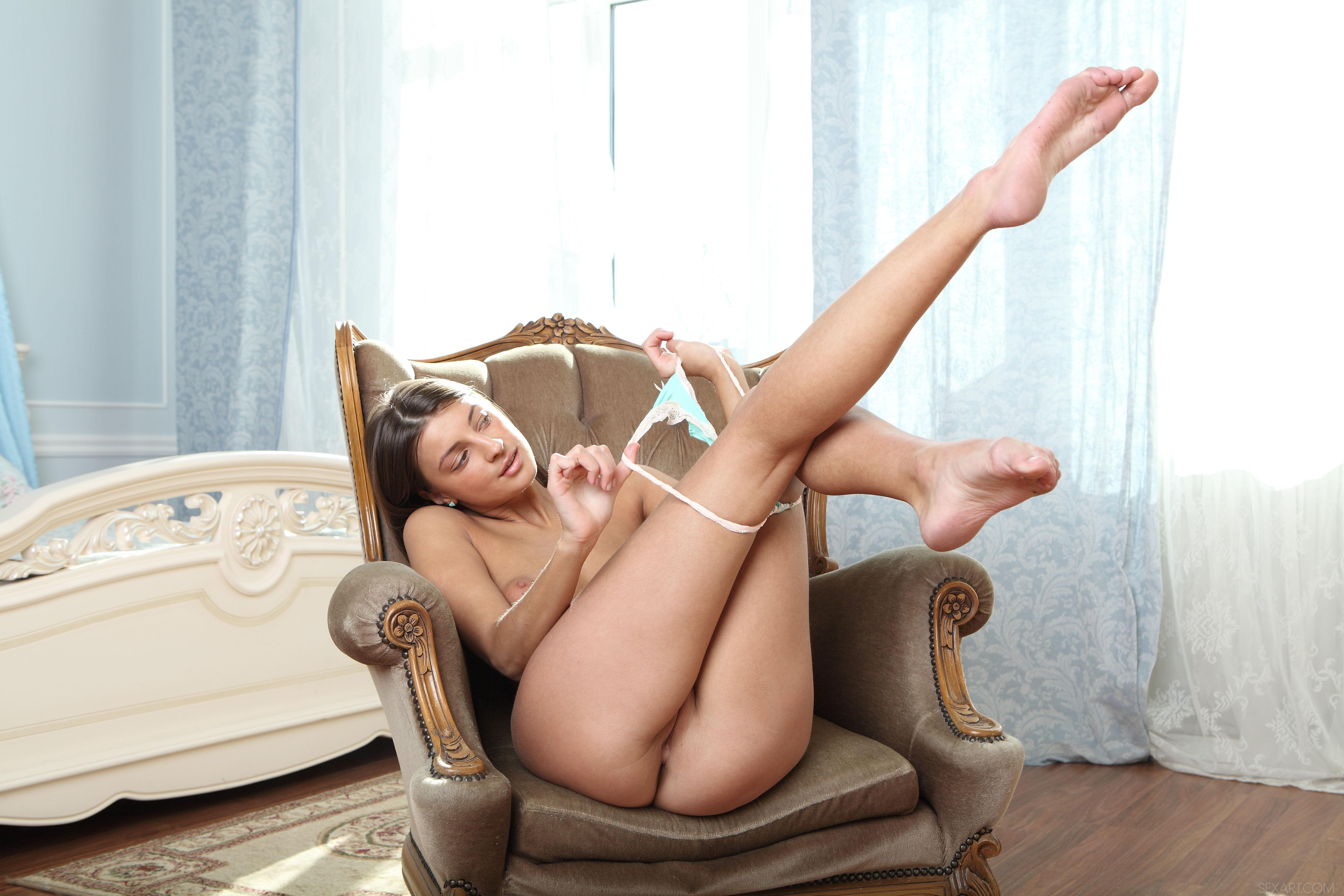Maria Washing Panties Naked