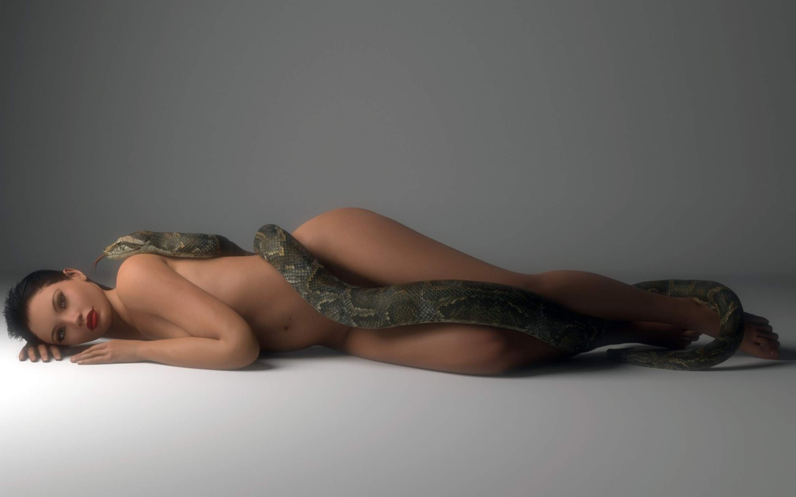 Assured, Naked and horny with snakes are