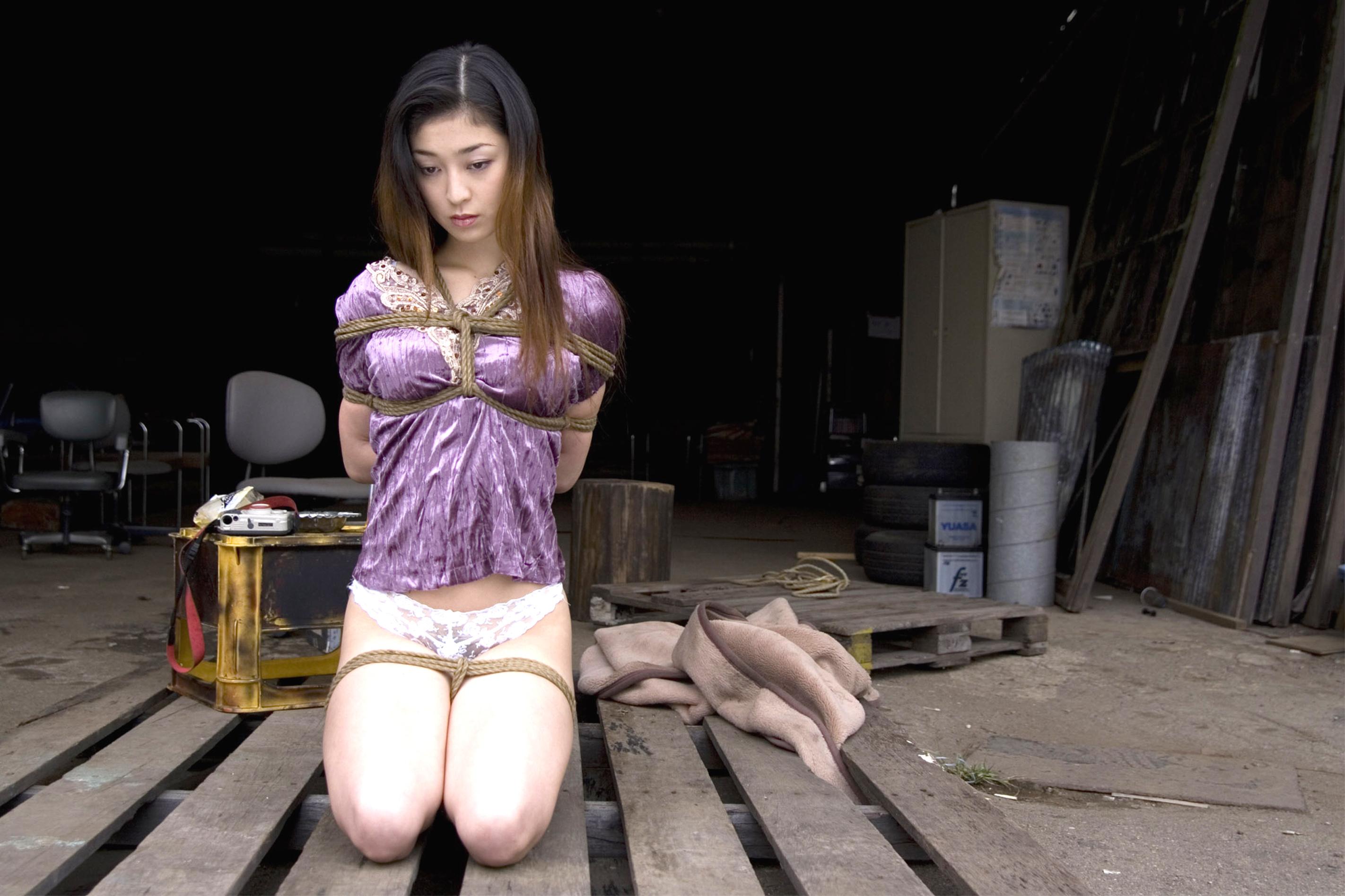 Wallpaper Chiaki Kurihara, Rope, Restriction, Asian, Nude -7352